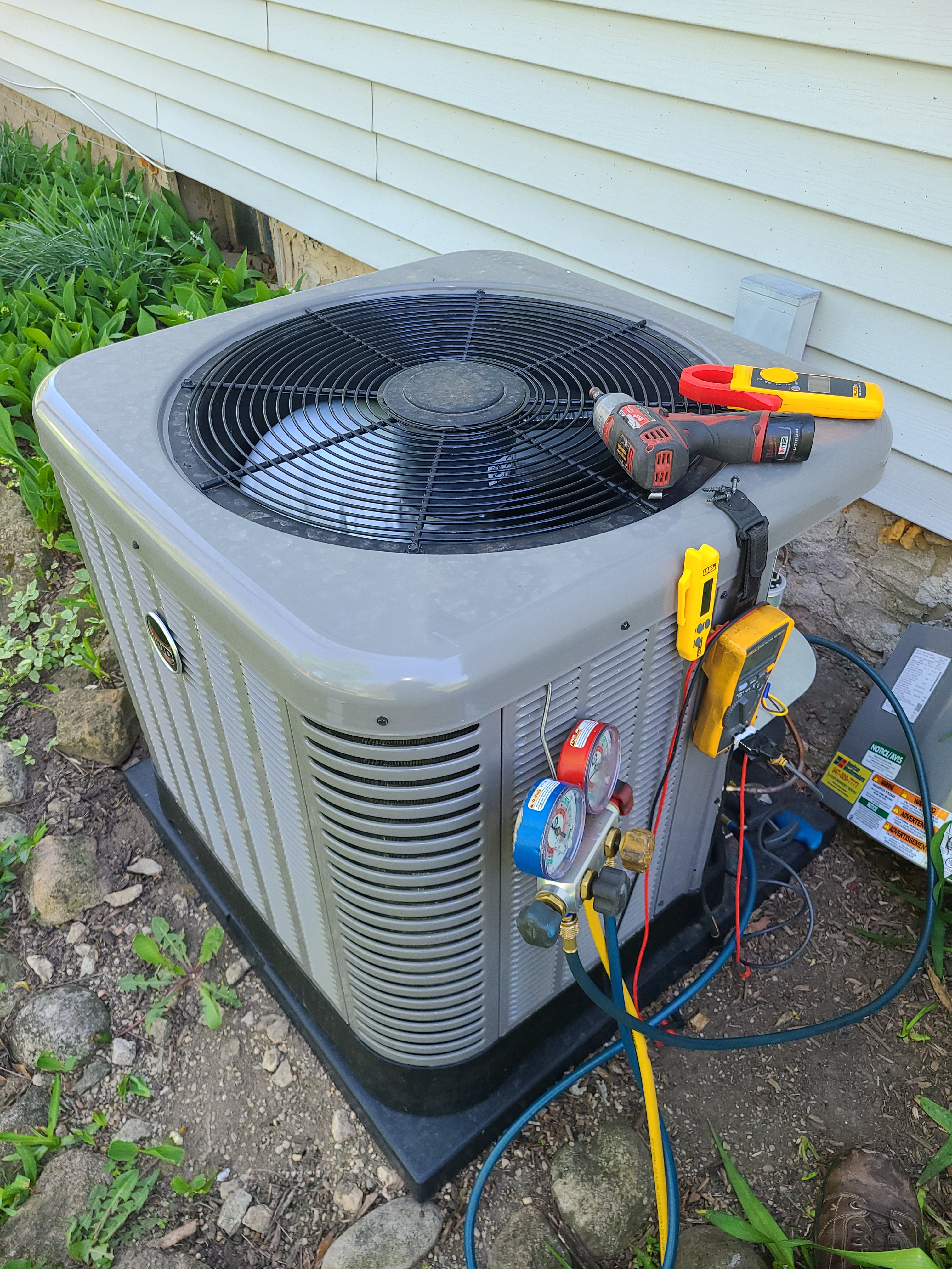 Ruud new ac installed and start up performed. System runs great!
