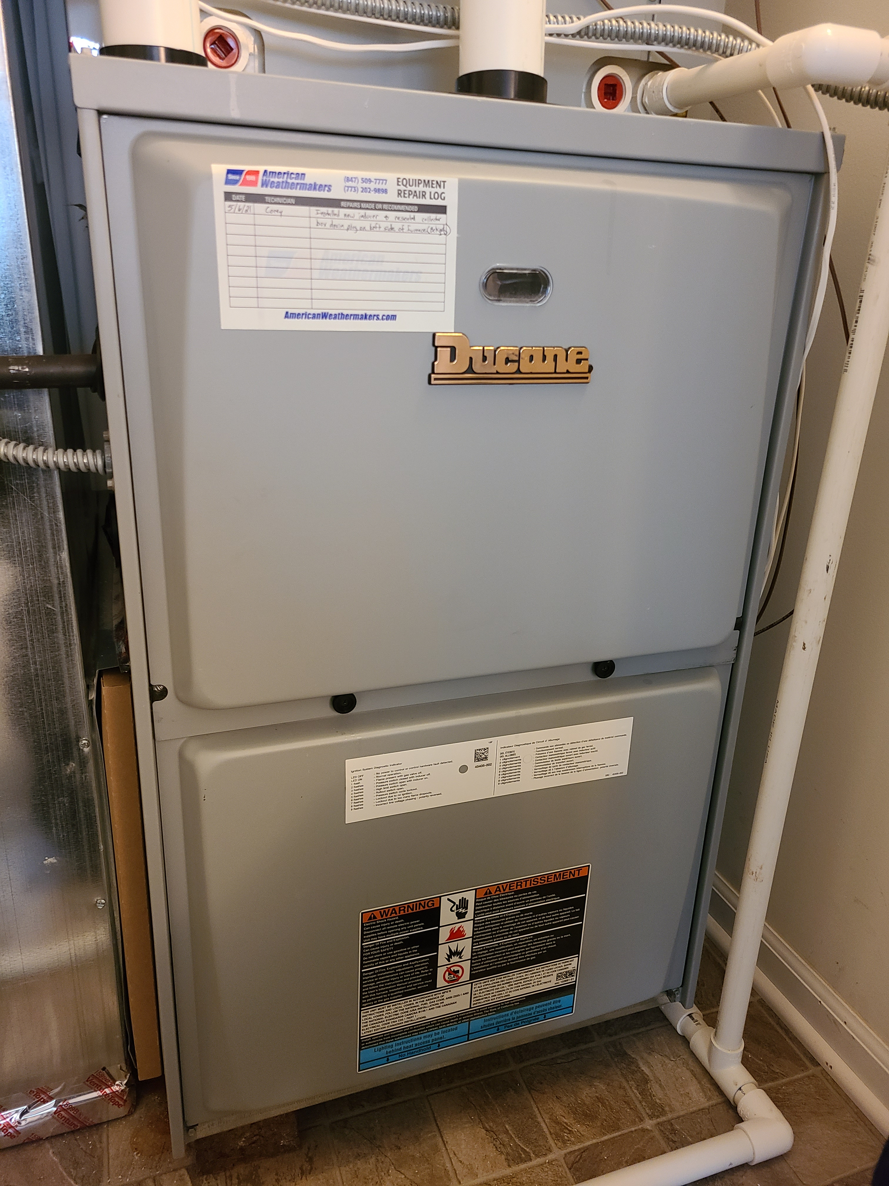 Ducane furnace no heat issue fixed and system running great at this time.