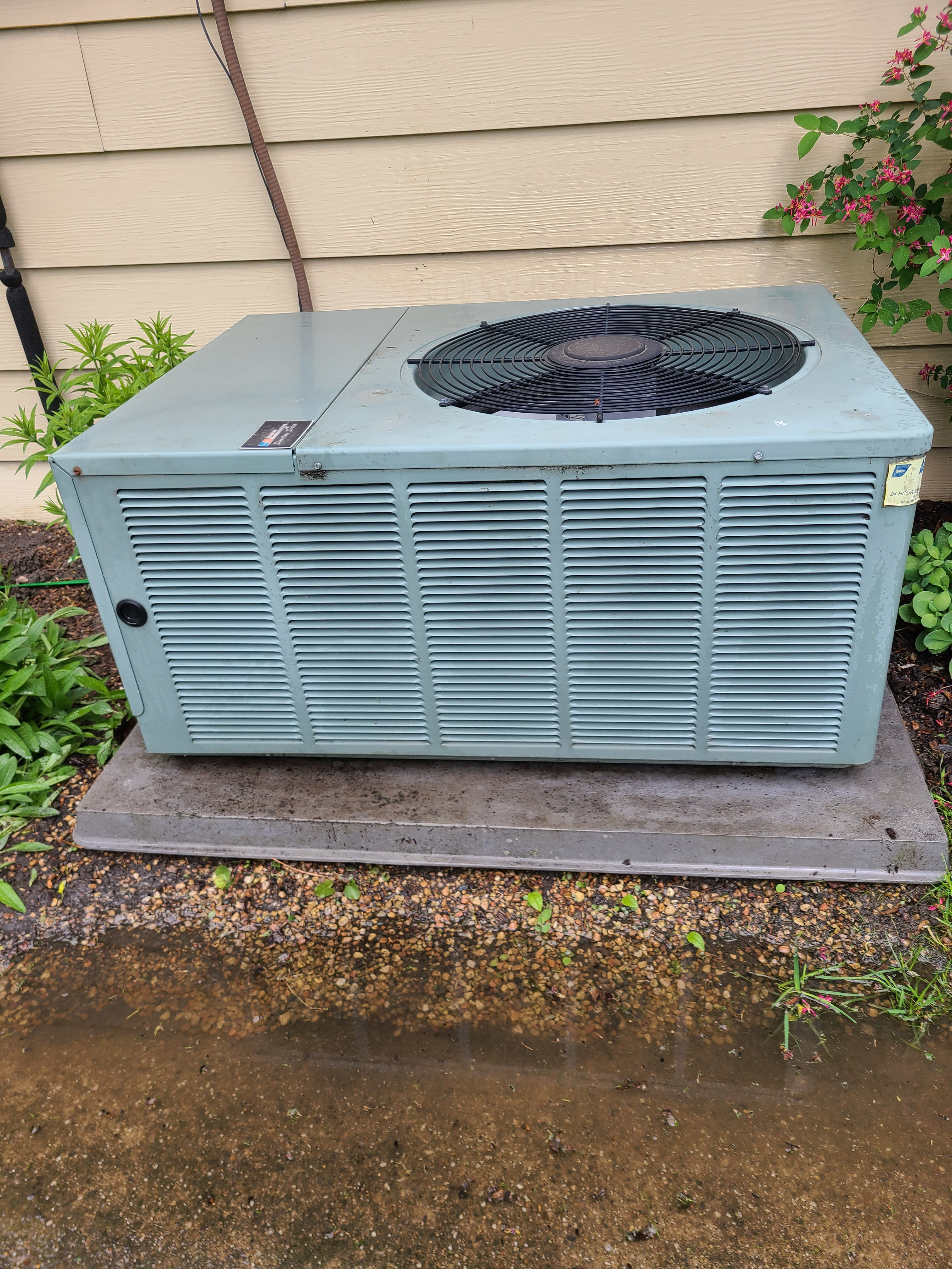 Clean up and maintained...RHEEM 410a system ready for spring/ summer operation