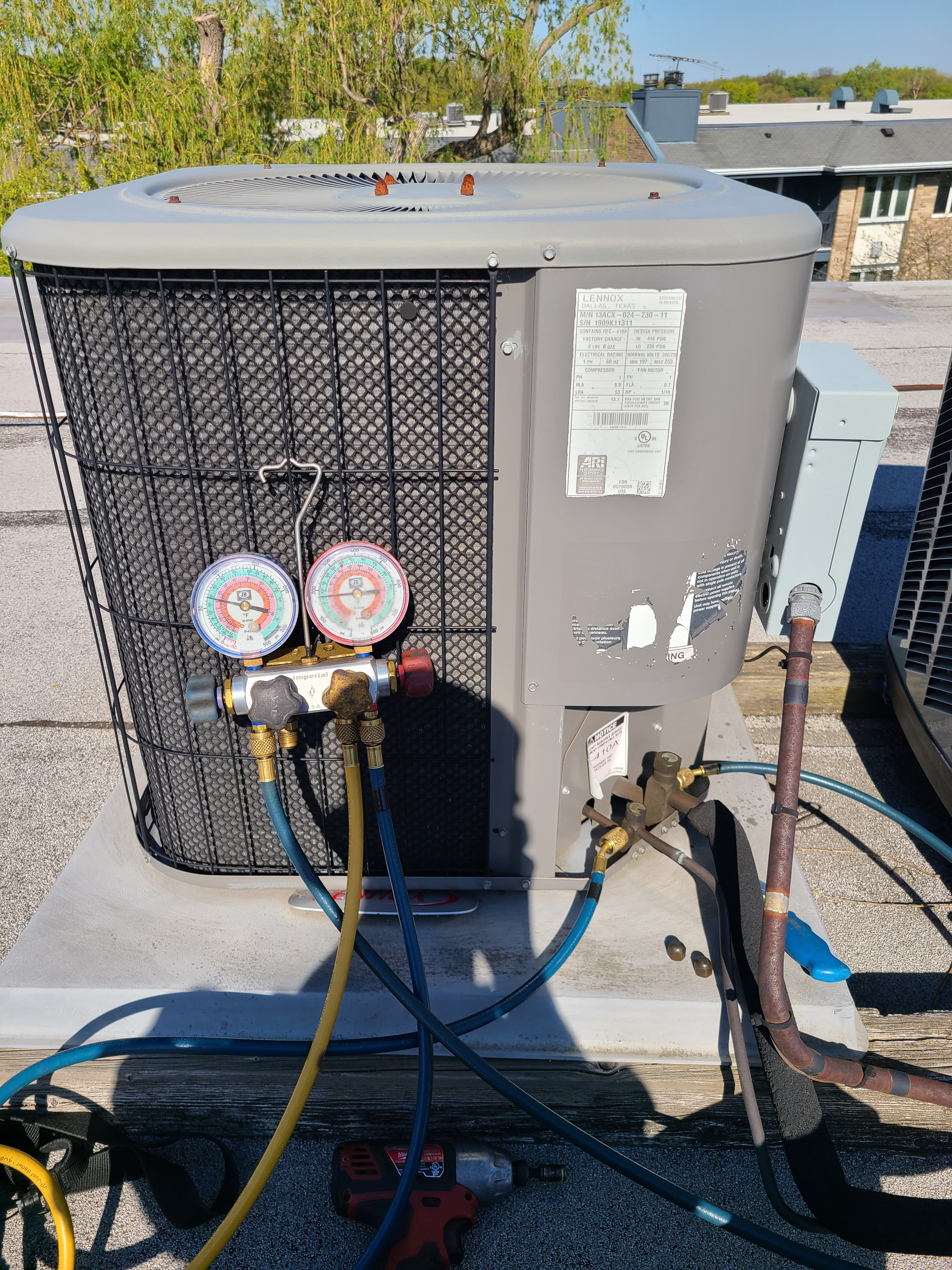 Lennox spring ac tune up. System cleaned and checked and ready for summer.