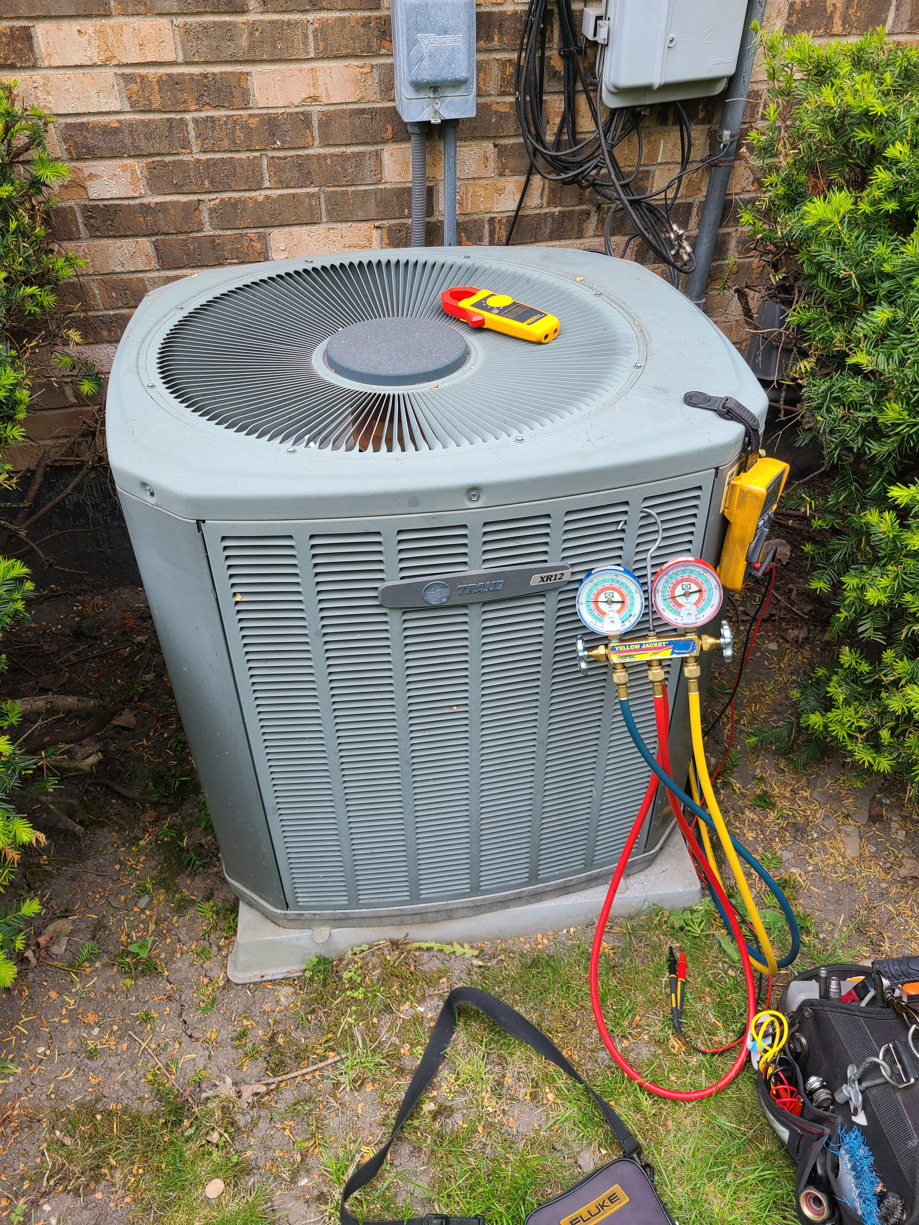 Trane spring ac tune up. System cleaned and checked and ready for summer.