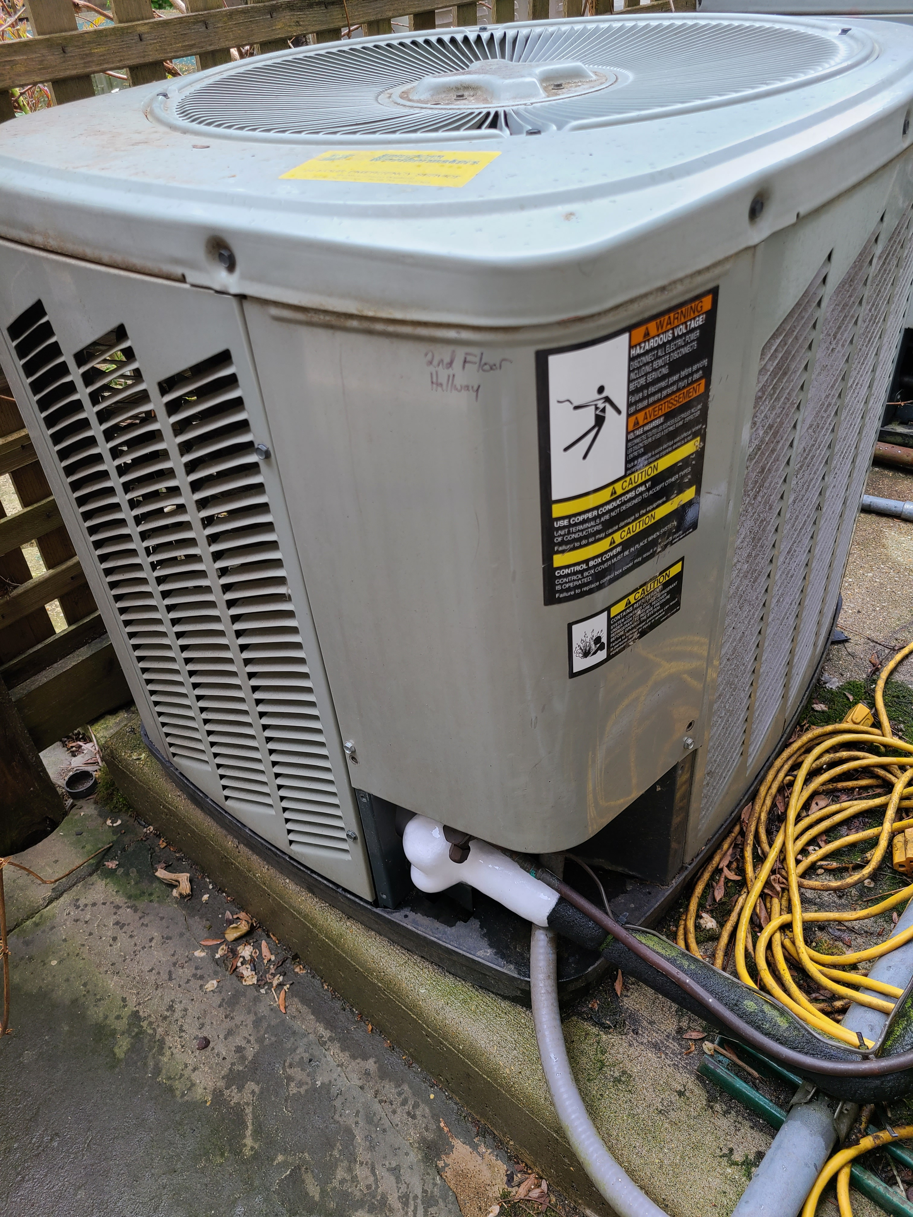 American Standard spring ac tune up. System found to be defective and new instalation to be performed.