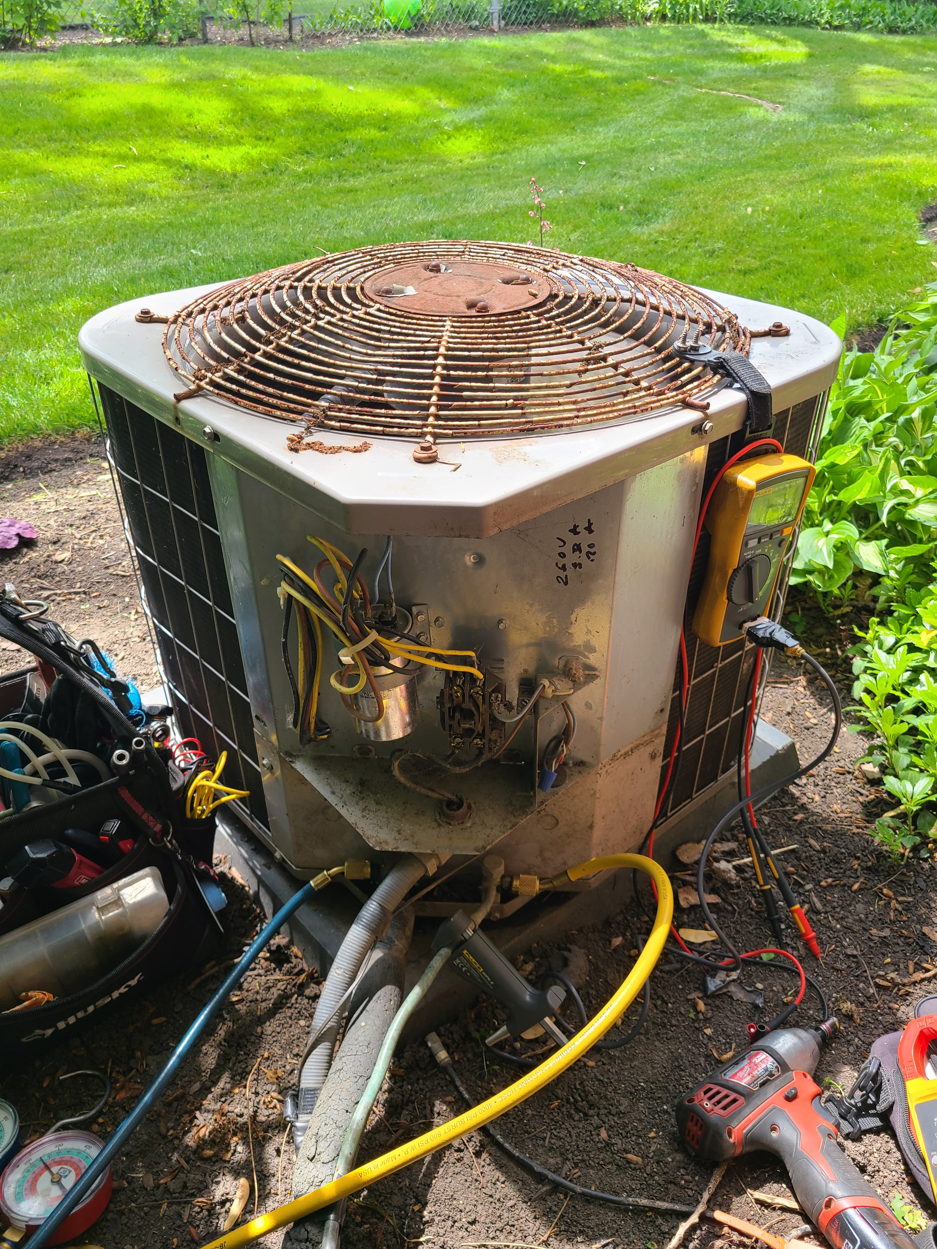 Carrier spring ac tune up. System cleaned and checked and ready for summer.