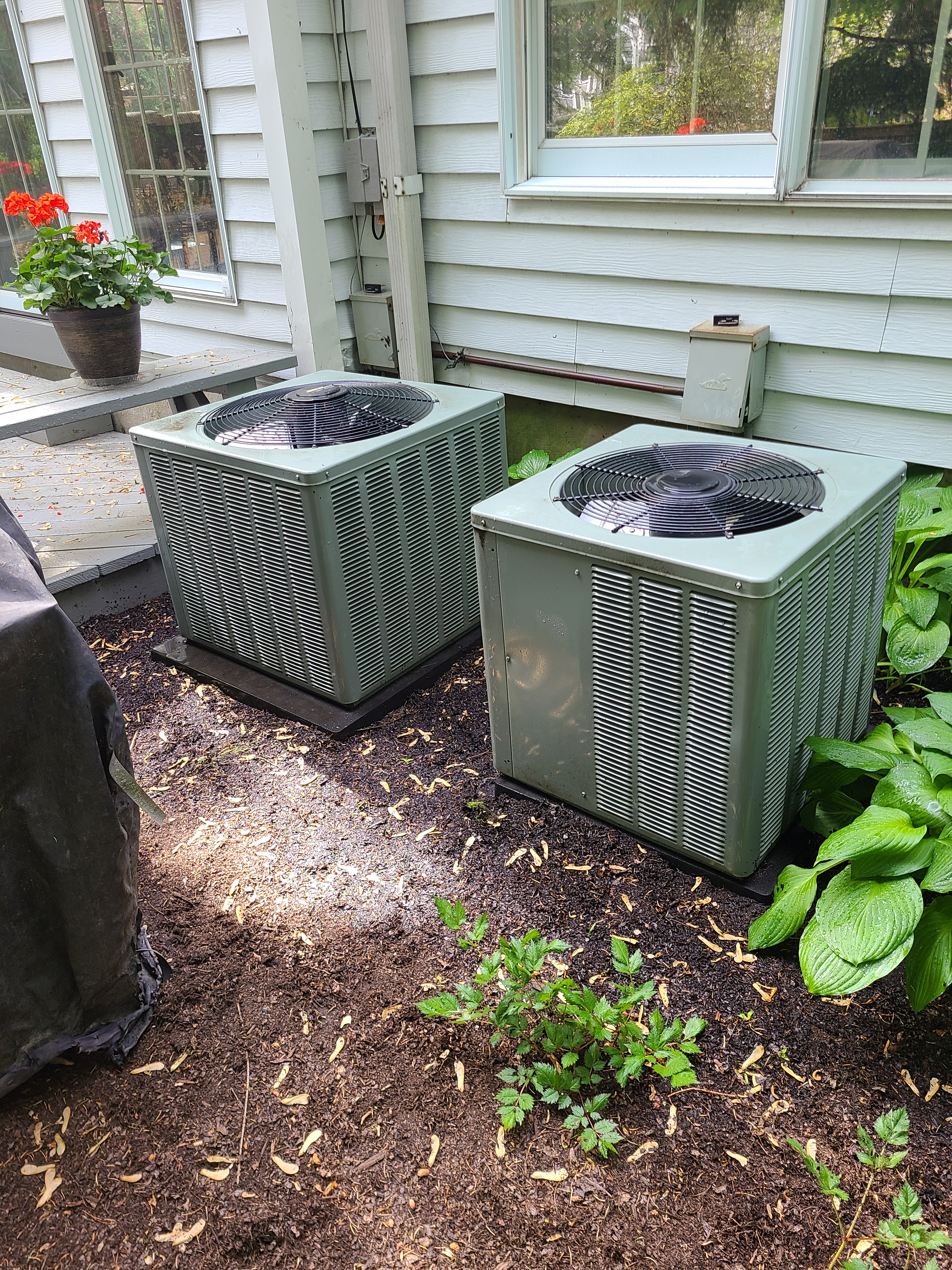 2 RHEEM 410a units cleaned and ready for spring/ summer operation
