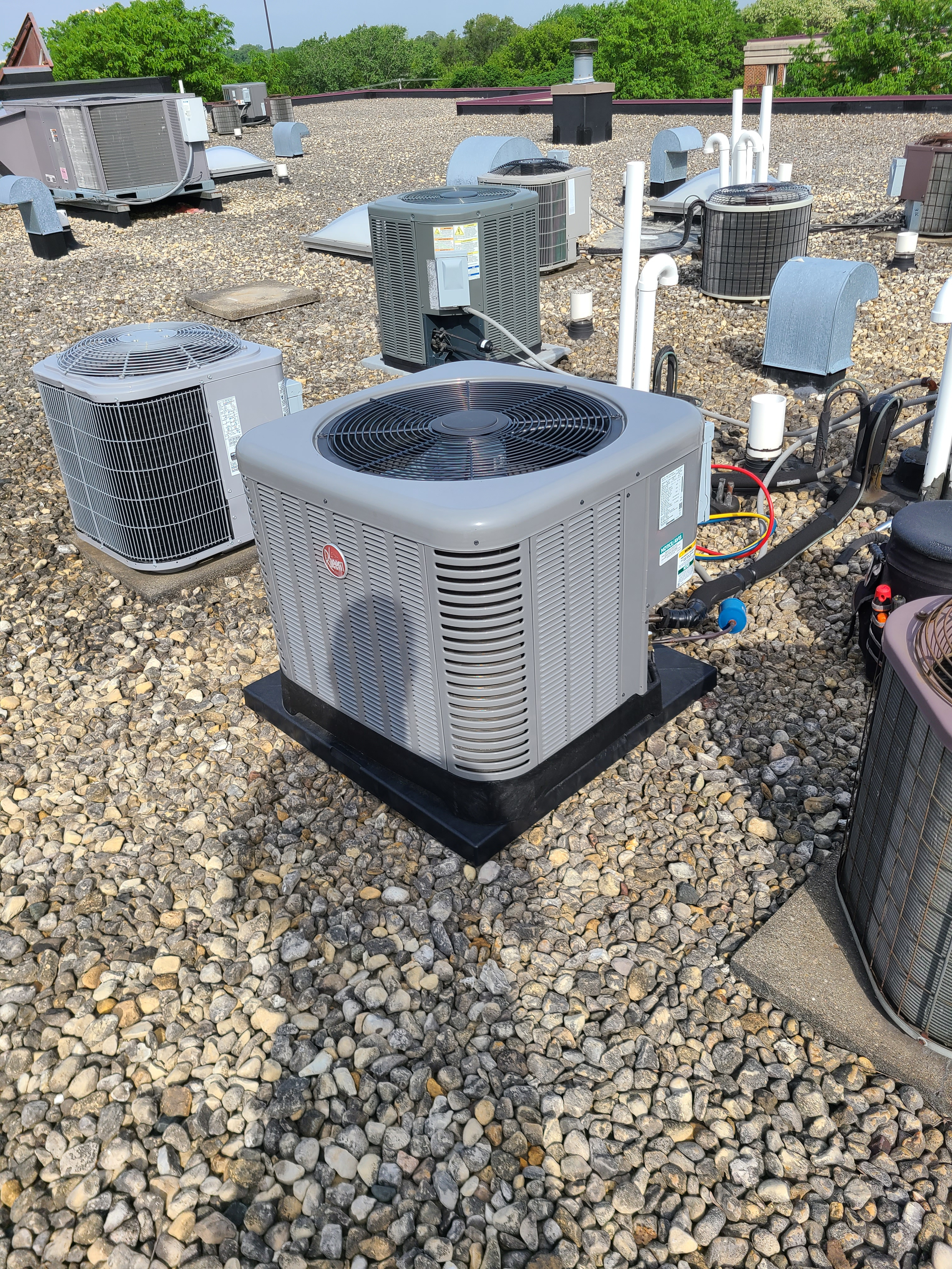 Rheem 410a system cleaned and ready for spring/ summer operation