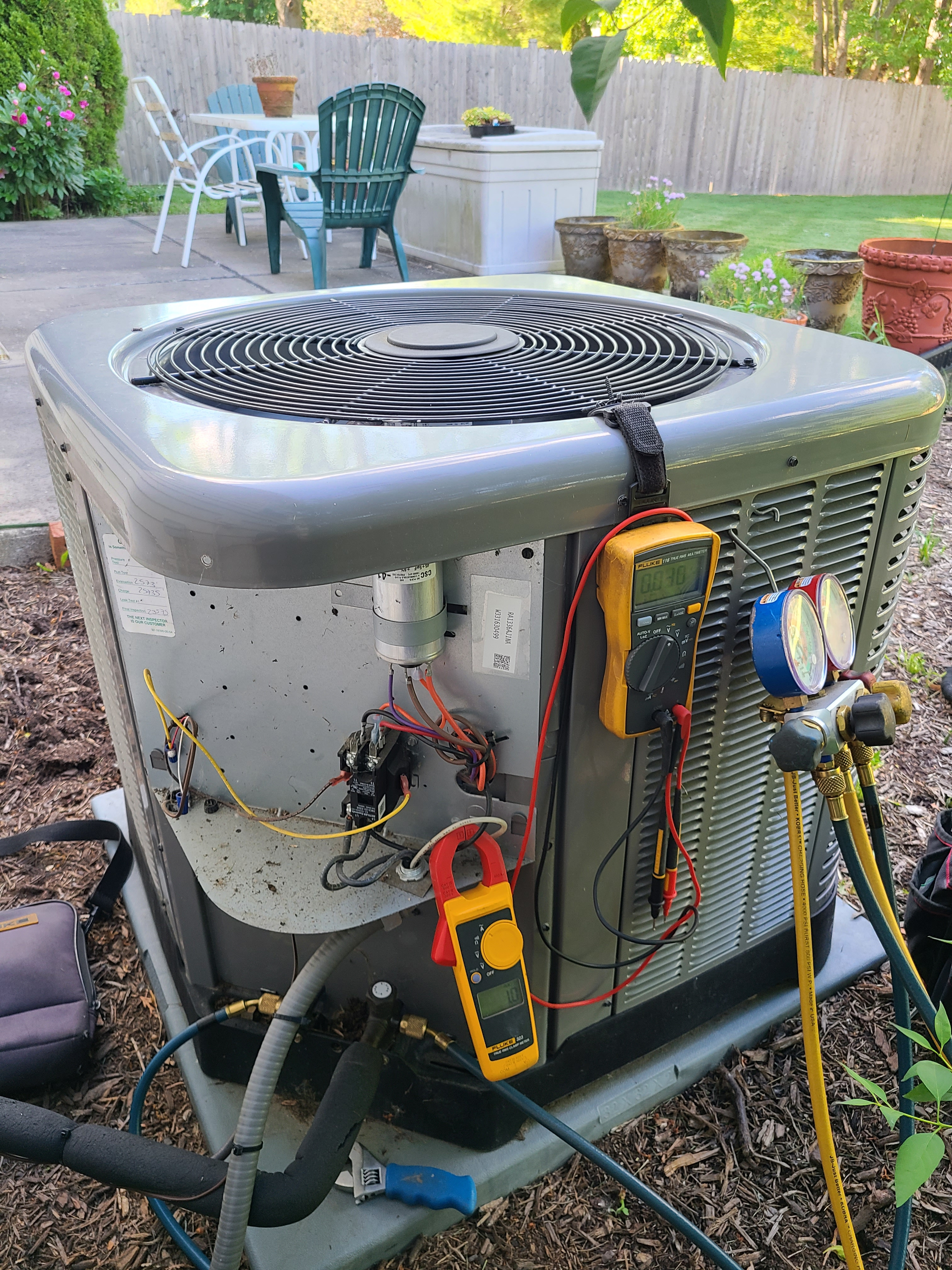 Ruud spring ac tune up. System cleaned and checked and ready for summer.