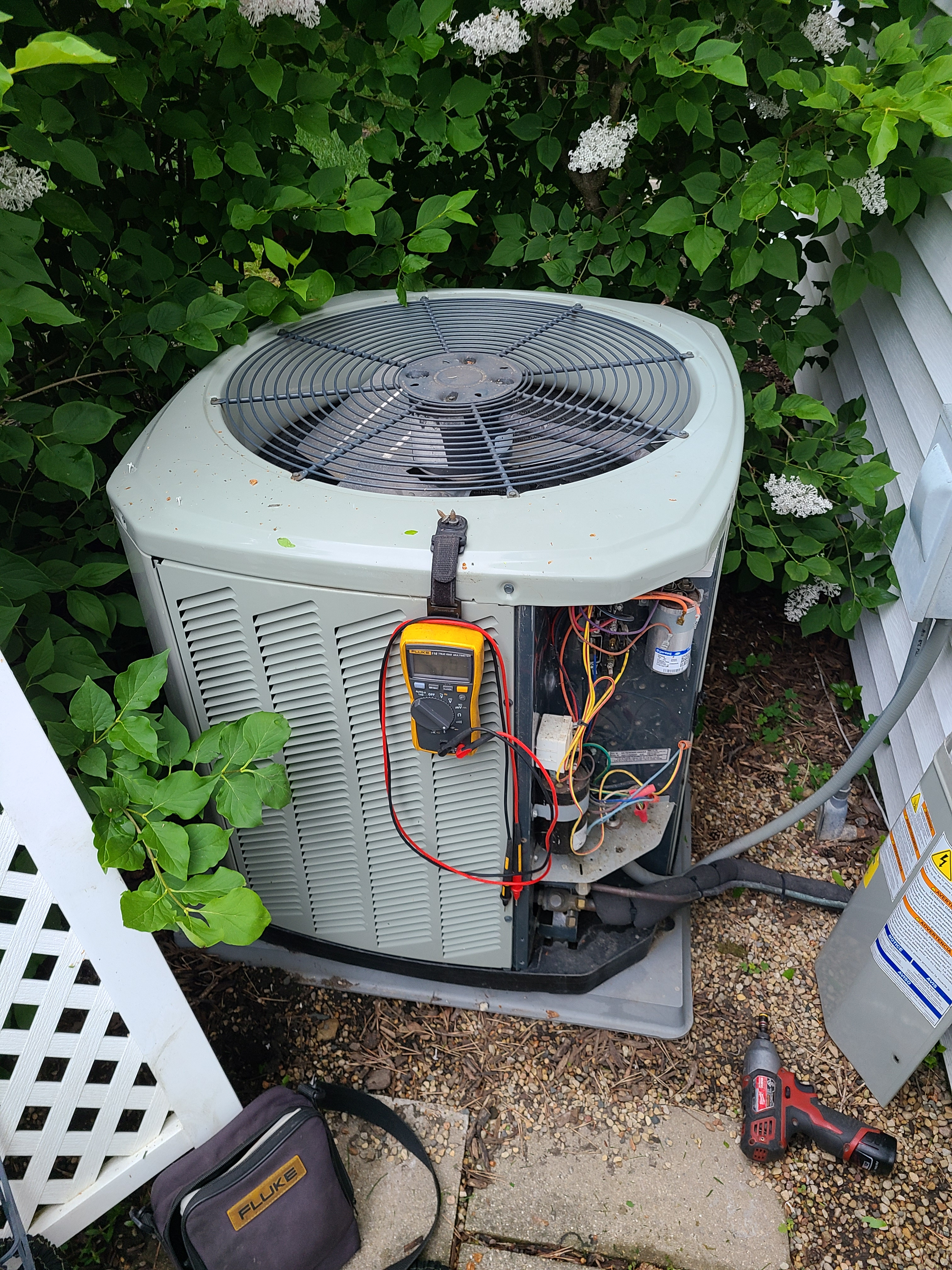American Standard spring ac tune up. System cleaned and checked and ready for summer.