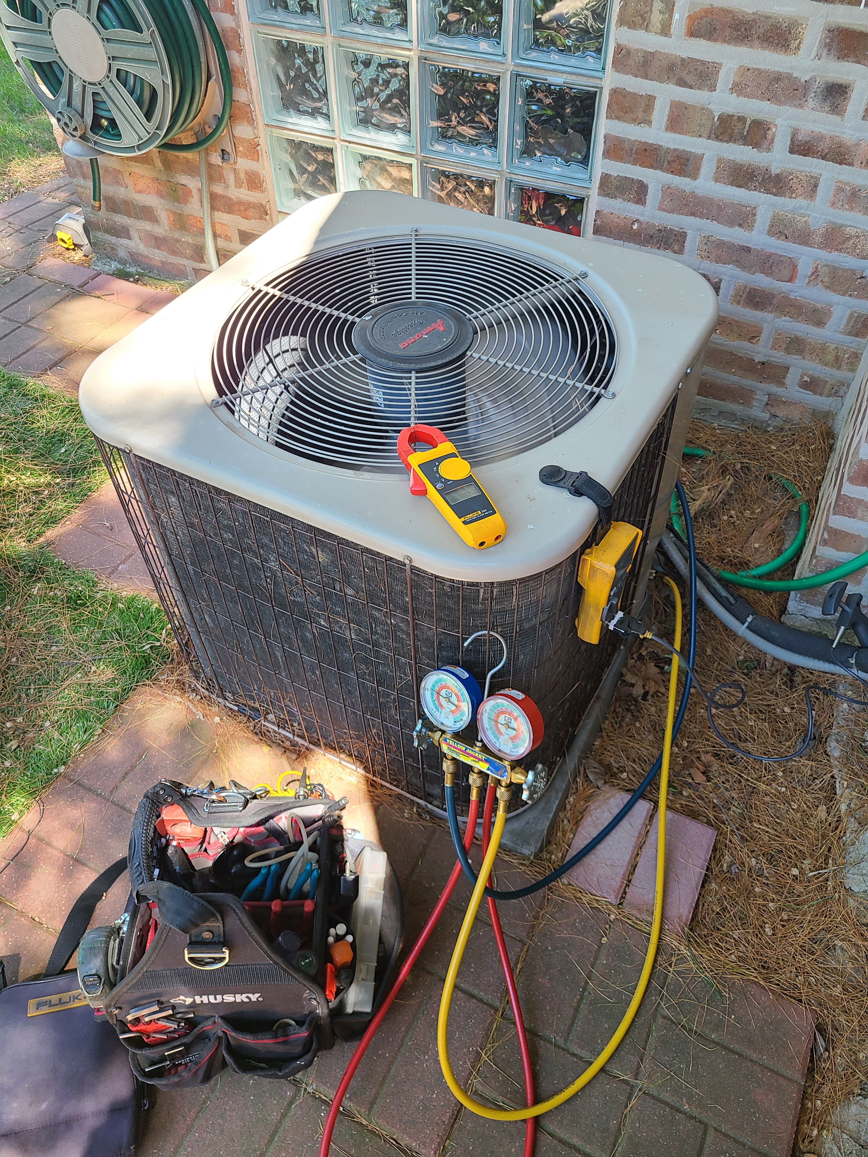 Amana ac tune up.  System cleaned and checked and ready for summer.