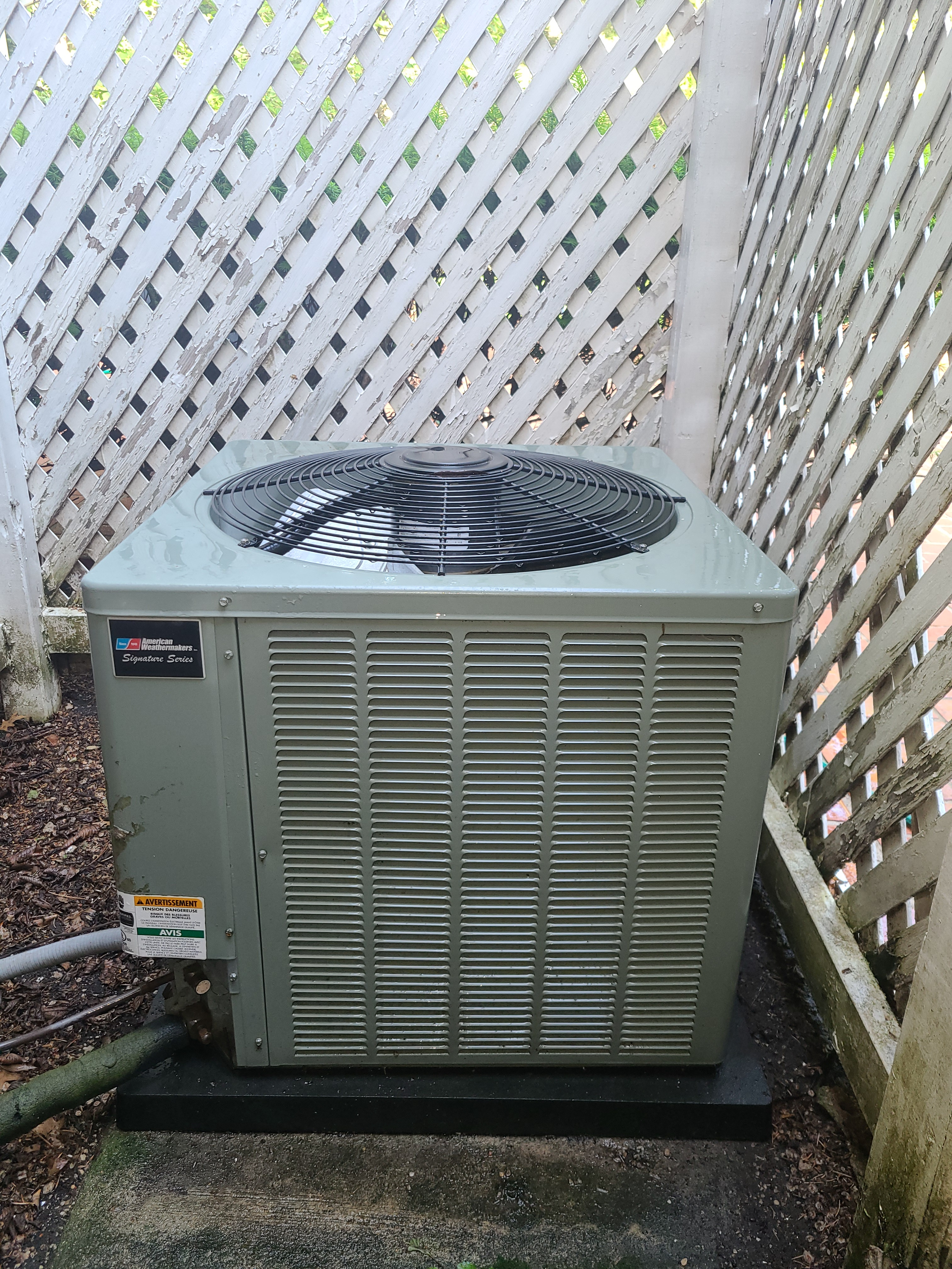 Ruud condenser after CTS