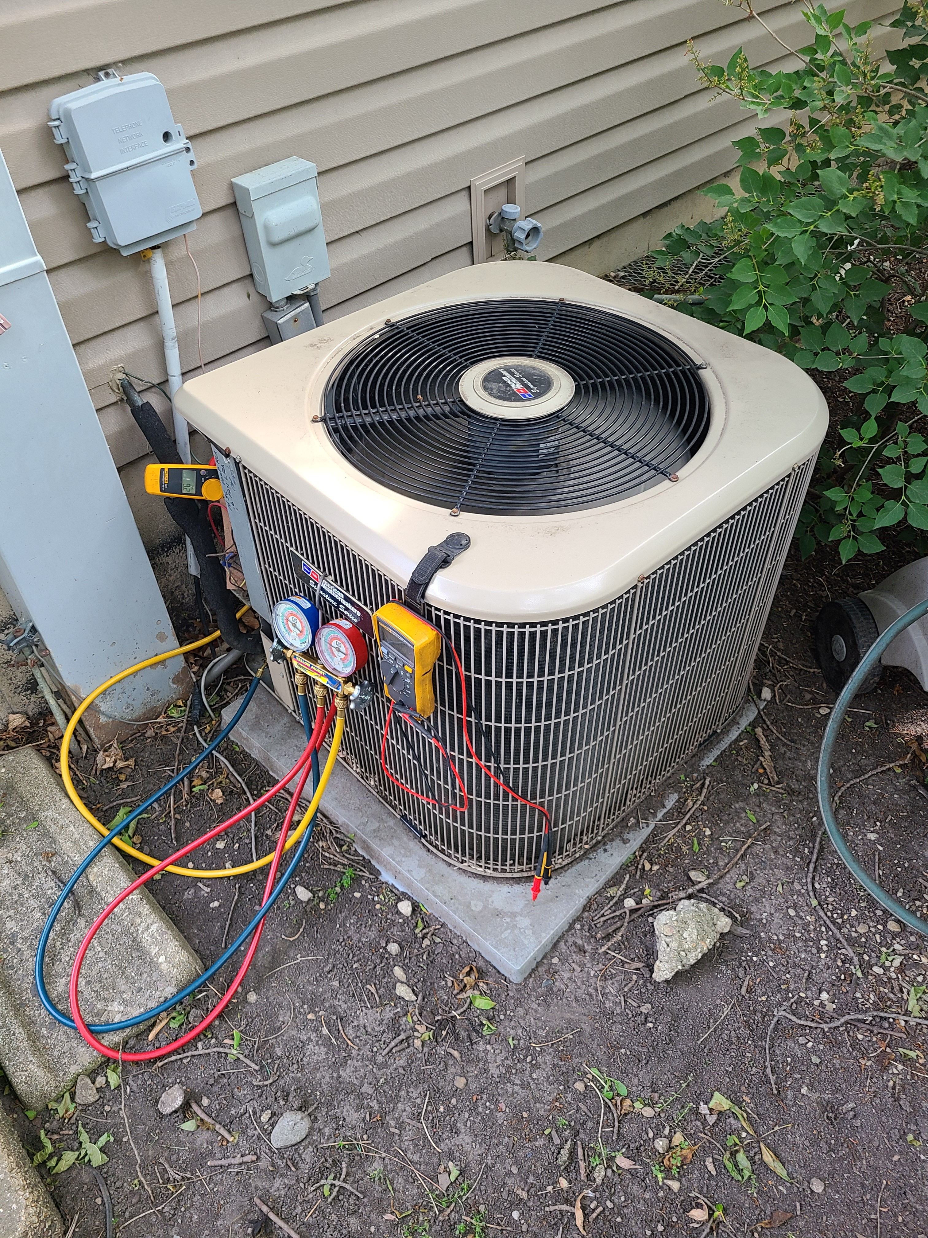 Amana ac cleaned and checked.  System tuned up and ready for summer.