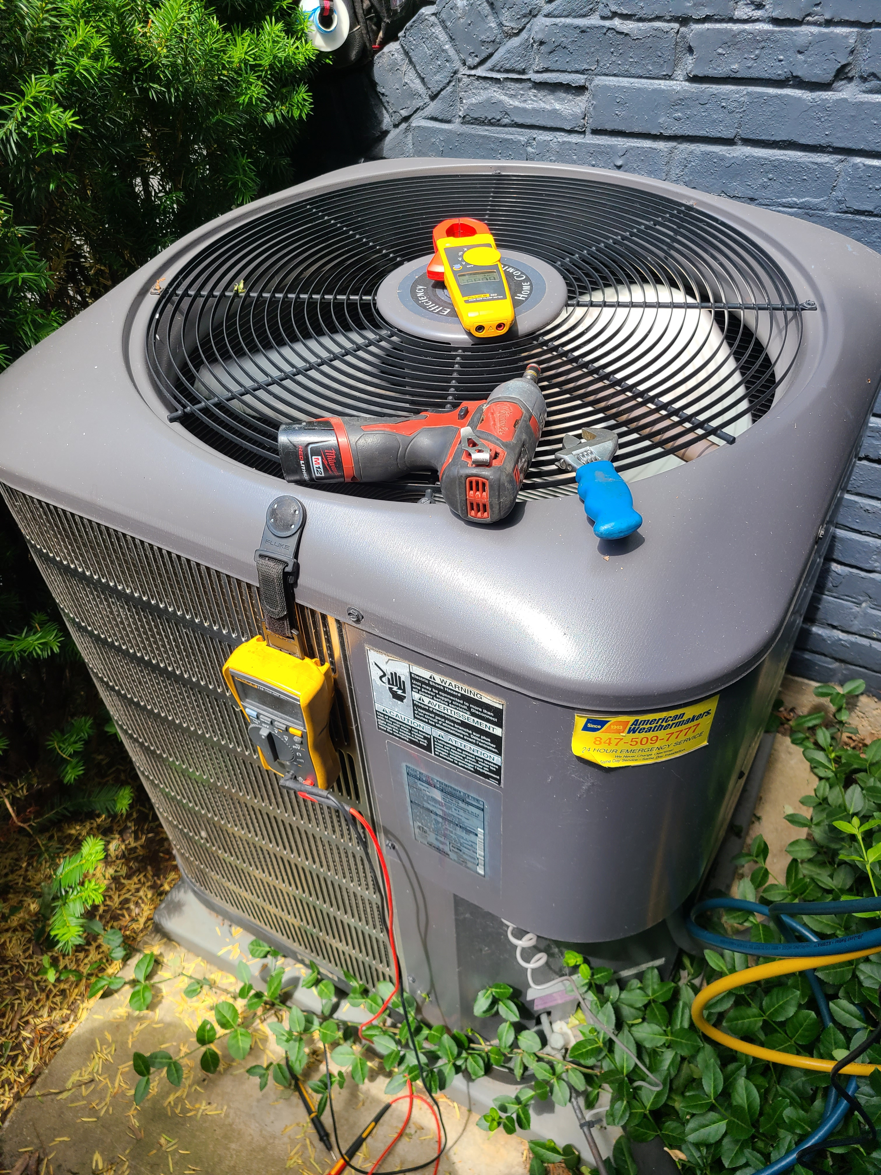 Maytagac summer ac clean and check.  System tuned up and ready for summer.