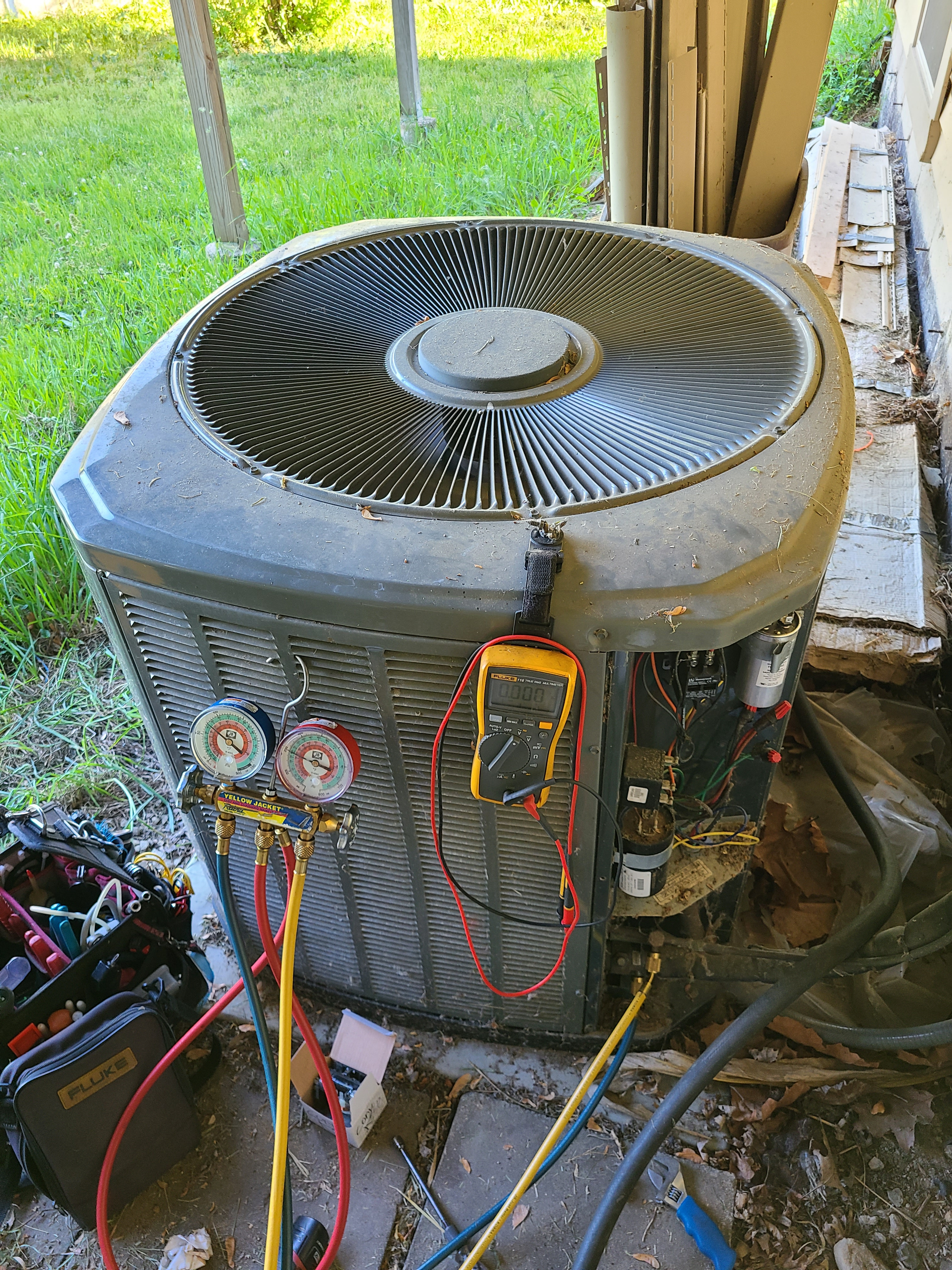 Trane ac no cooling issues diagnosed and repaired, then system cleaned and checked and ready for summer.