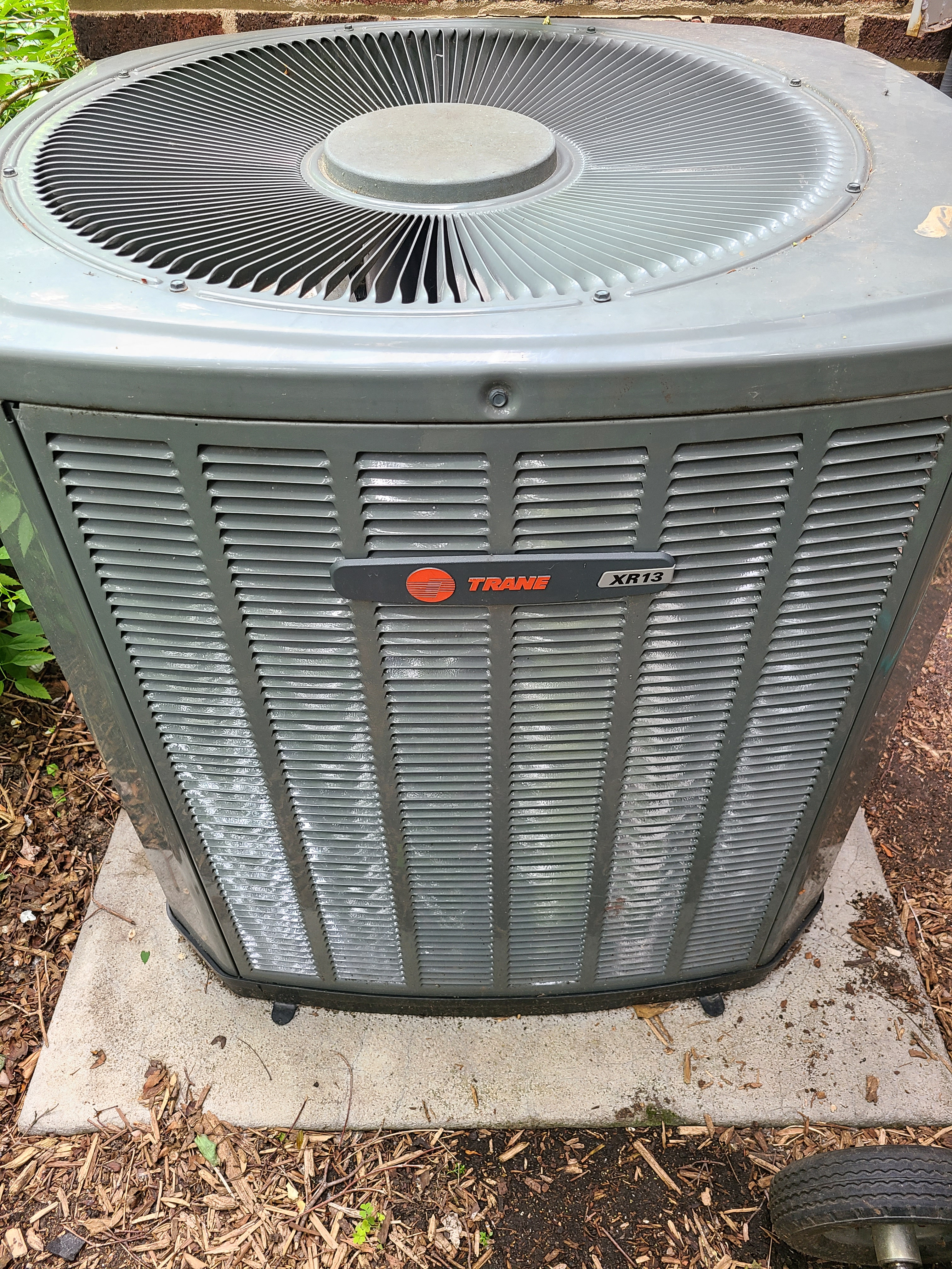 Trane air conditioning maintenance for Comfort Club member.