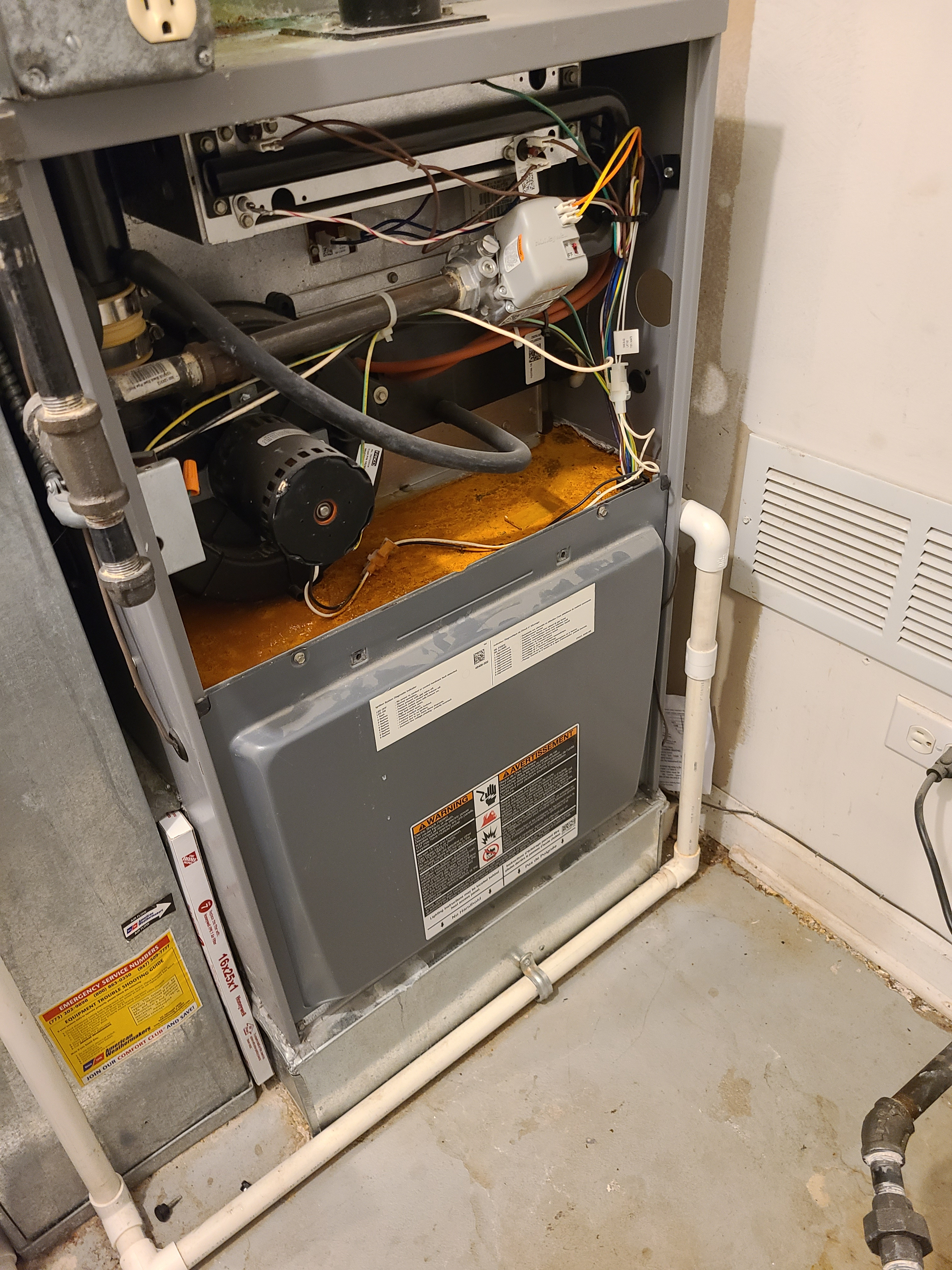 Armstrong air furnace blower motor repaired. System working great at this time.