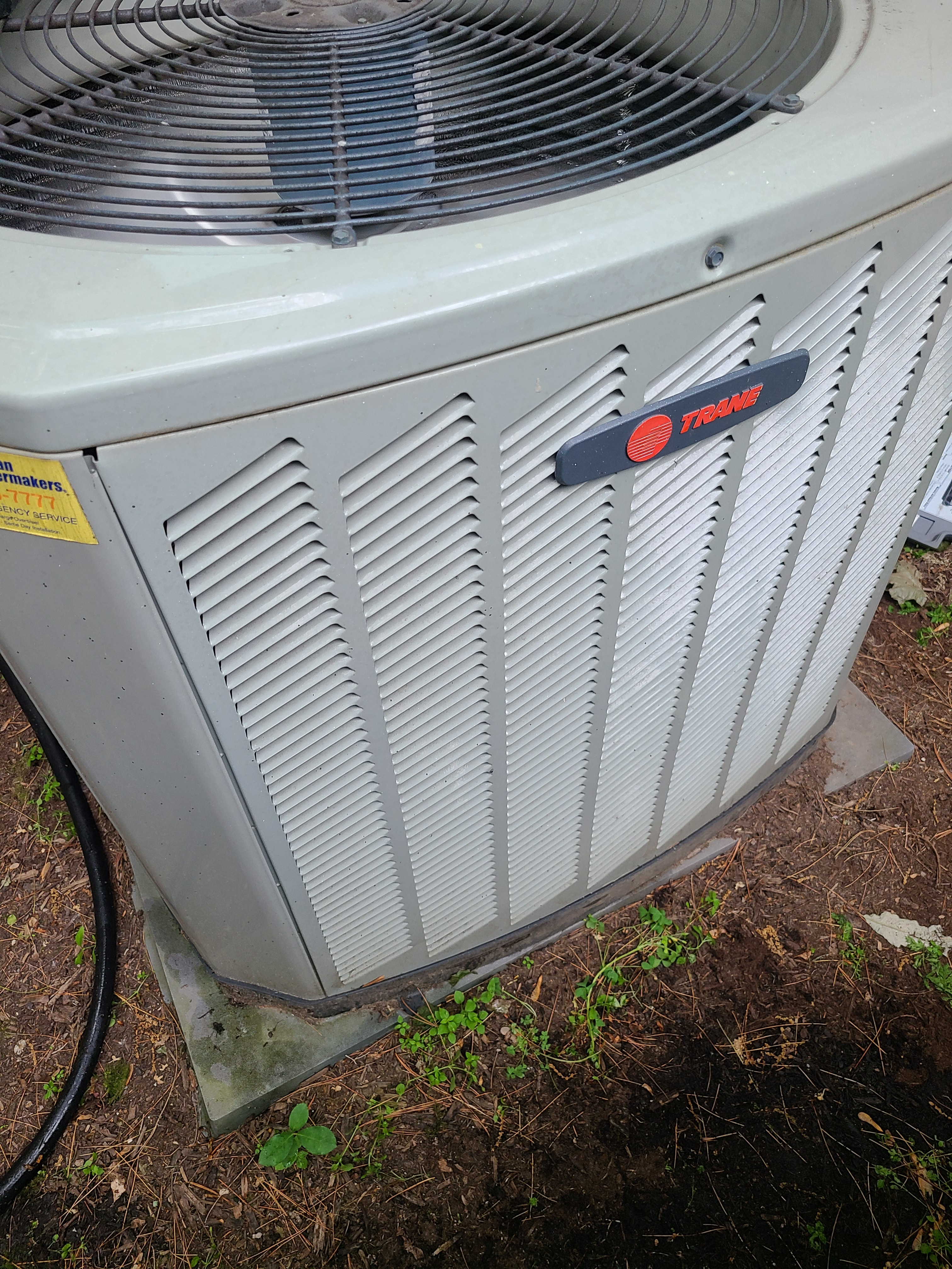 Trane air conditioner not cooling. Added refrigerant.