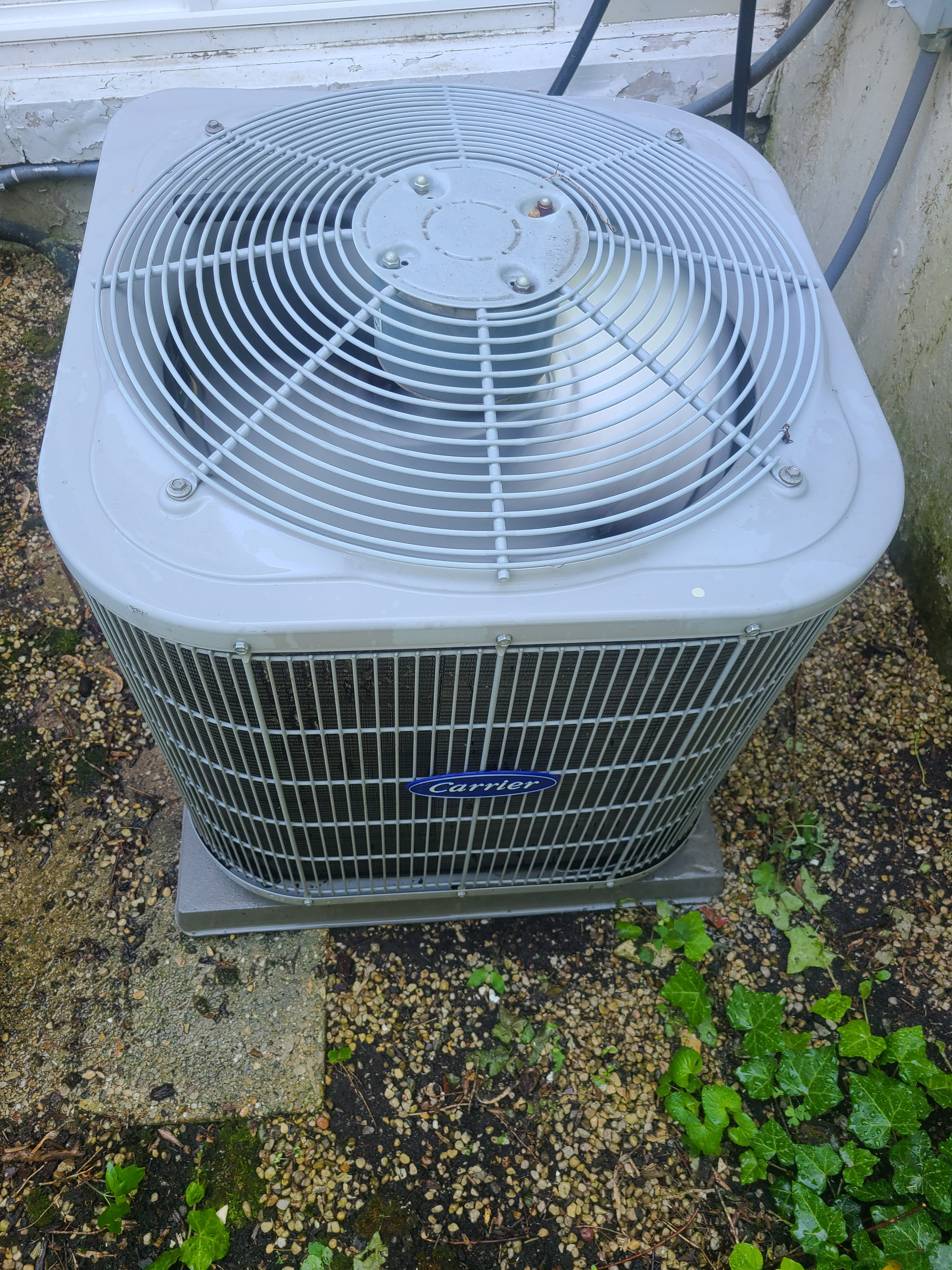 Carrier air conditioner maintenance for Comfort Club member.