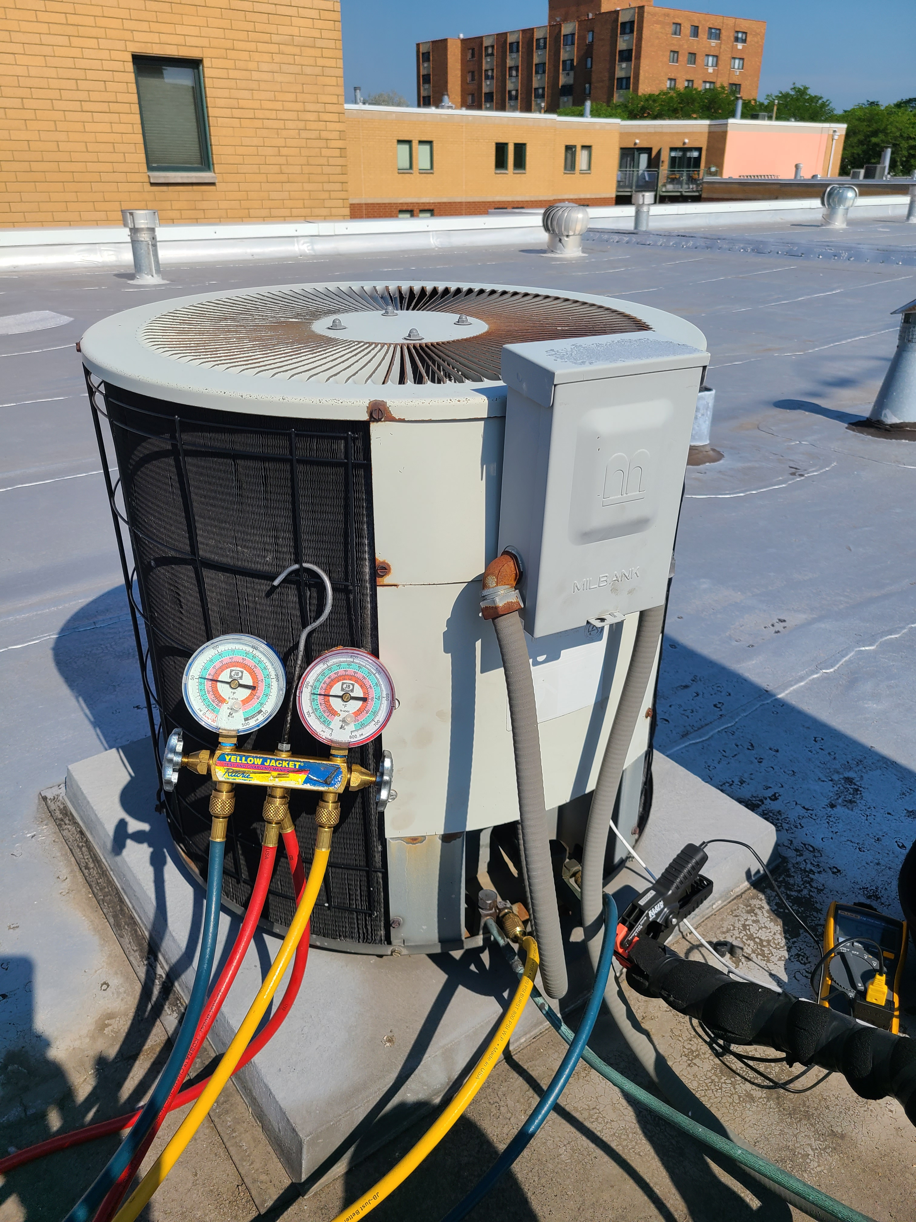 Heil summer ac tune up. System cleaned and checked and ready for summer.