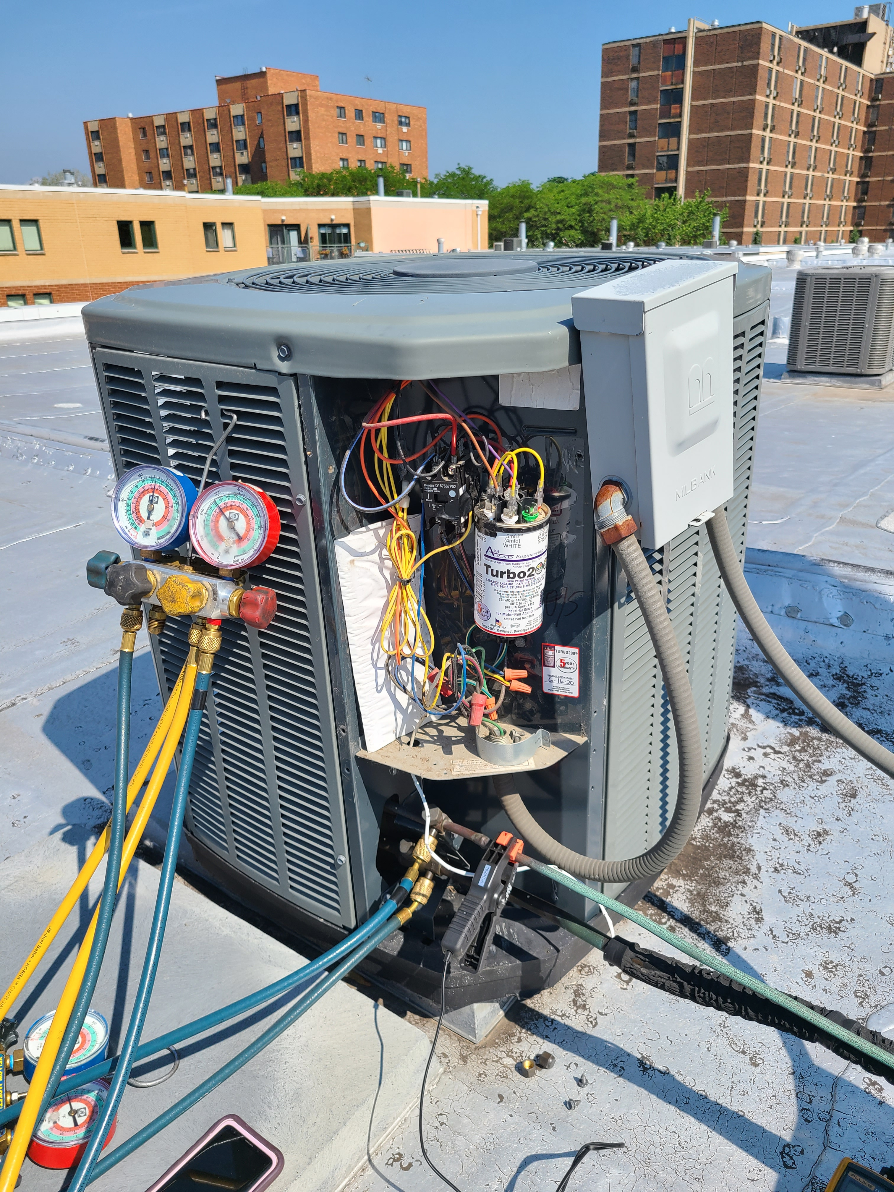 Trane summer ac tune up. System cleaned and checked and ready for summer.