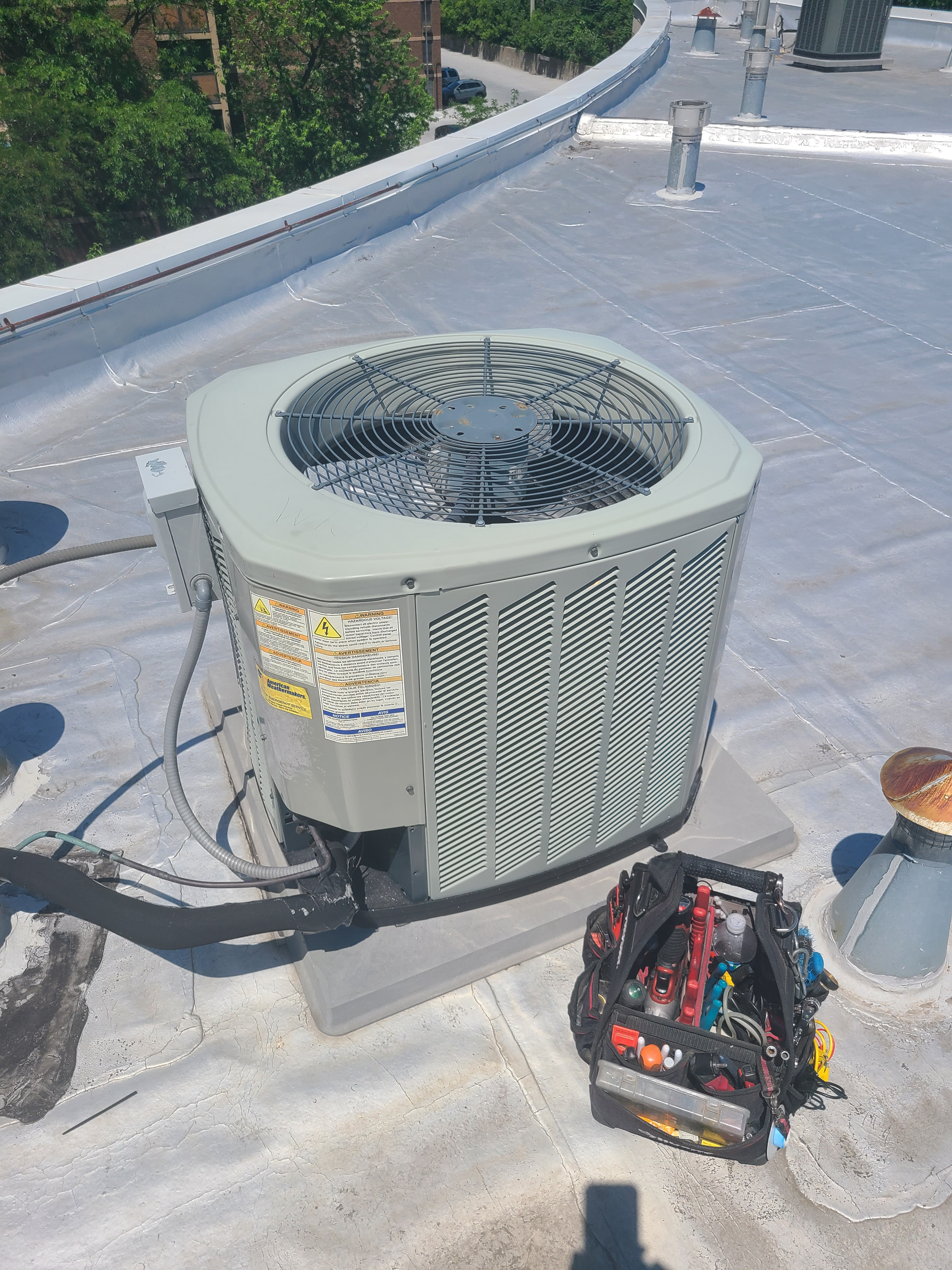 American Standard summer ac tune up. System cleaned and checked and ready for summer.