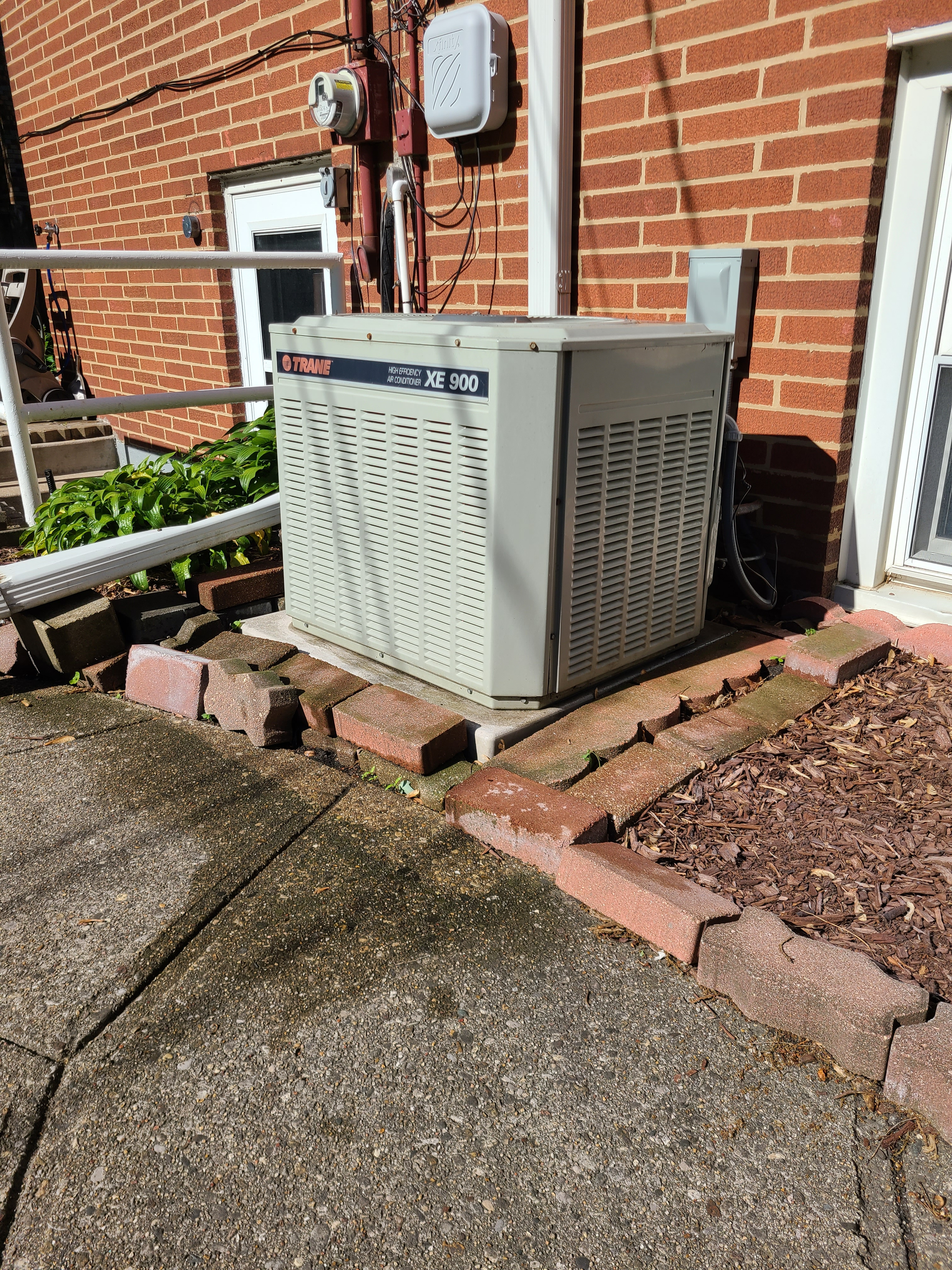Trane r22 system gassed cleaned and ready for spring/ summer operation