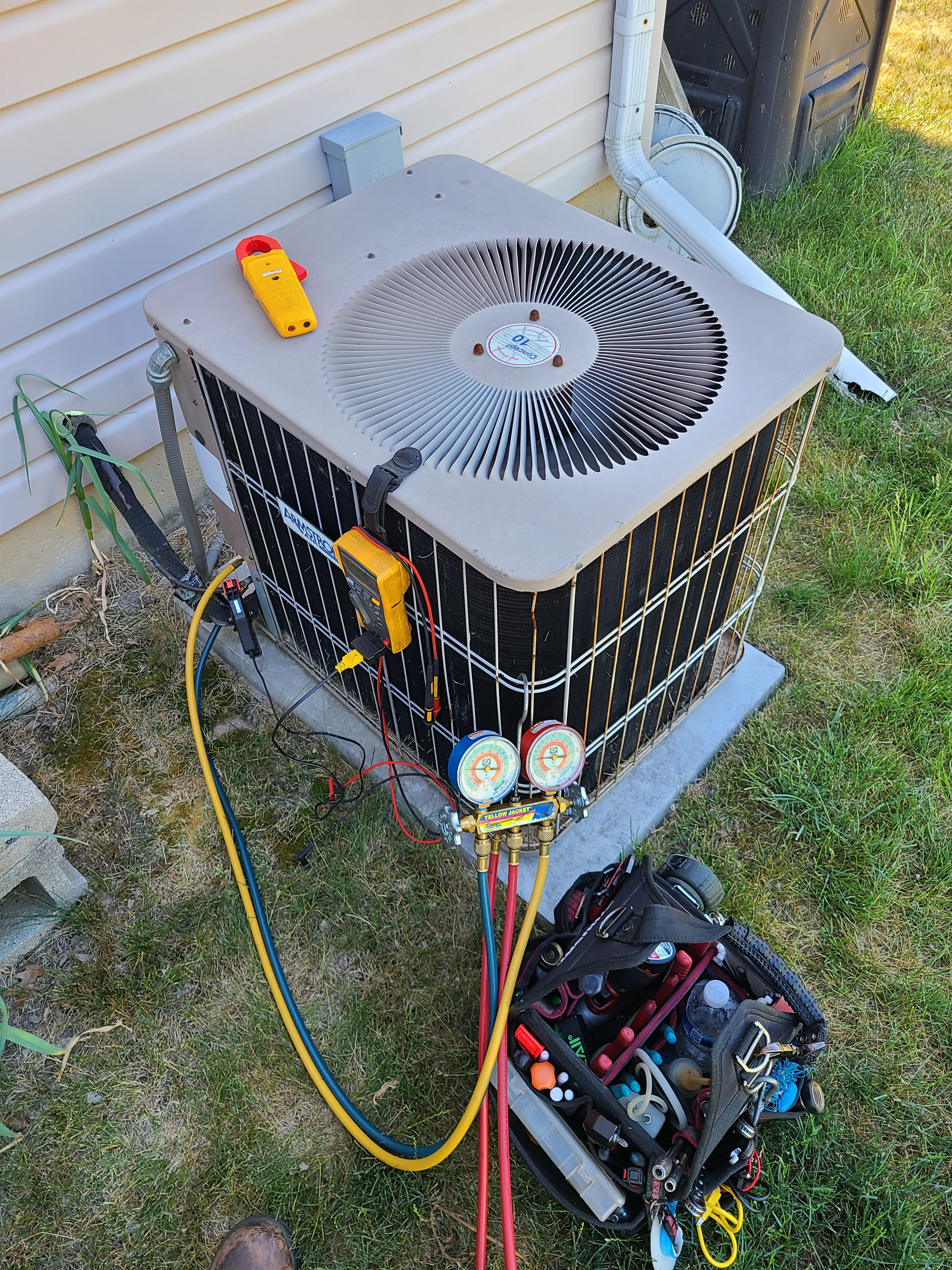 Armstrong air summer ac clean and check. System tuned up and ready for summer.