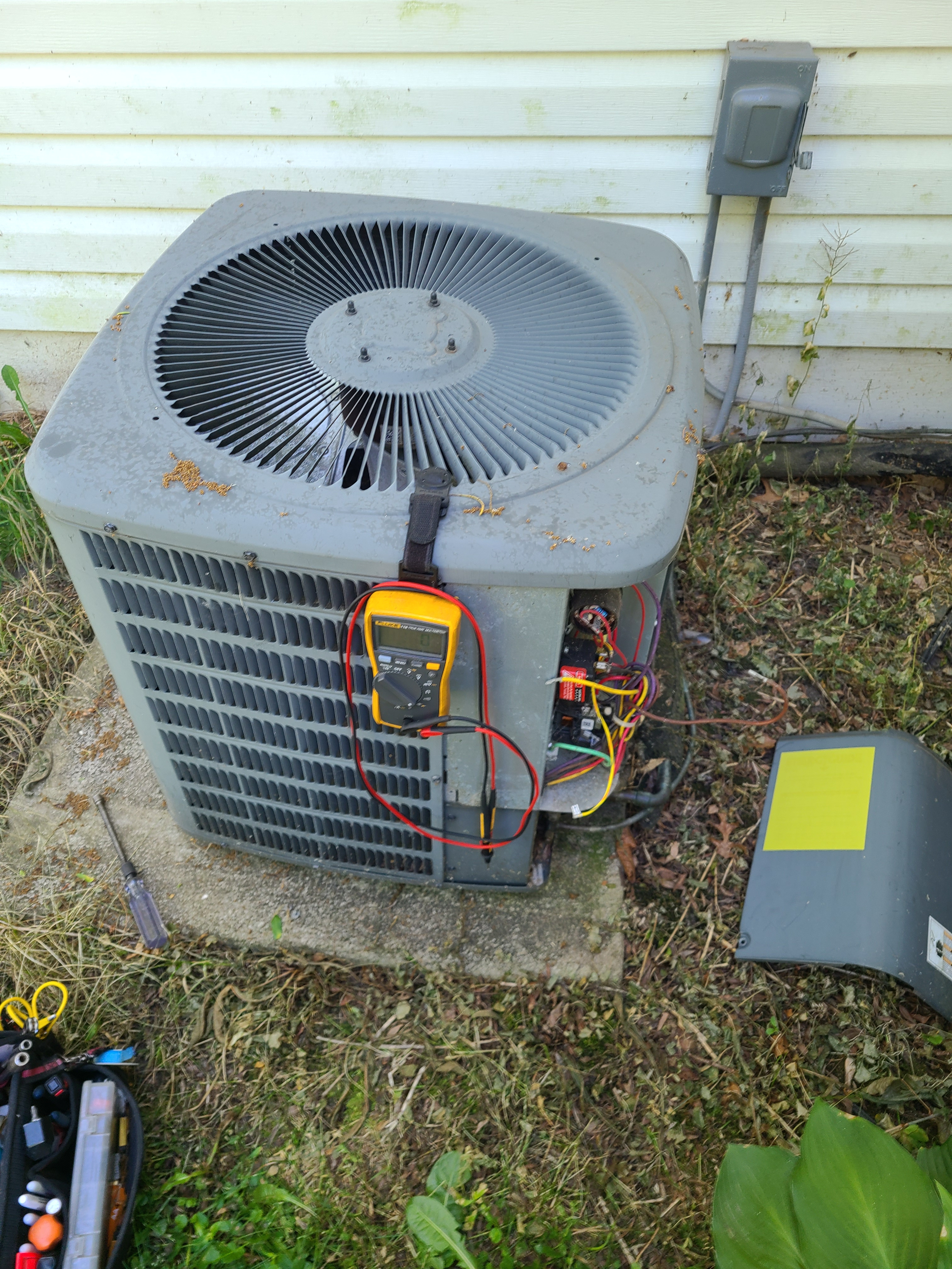 Goodman summer ac tune up. System cleaned and checked and ready for summer.