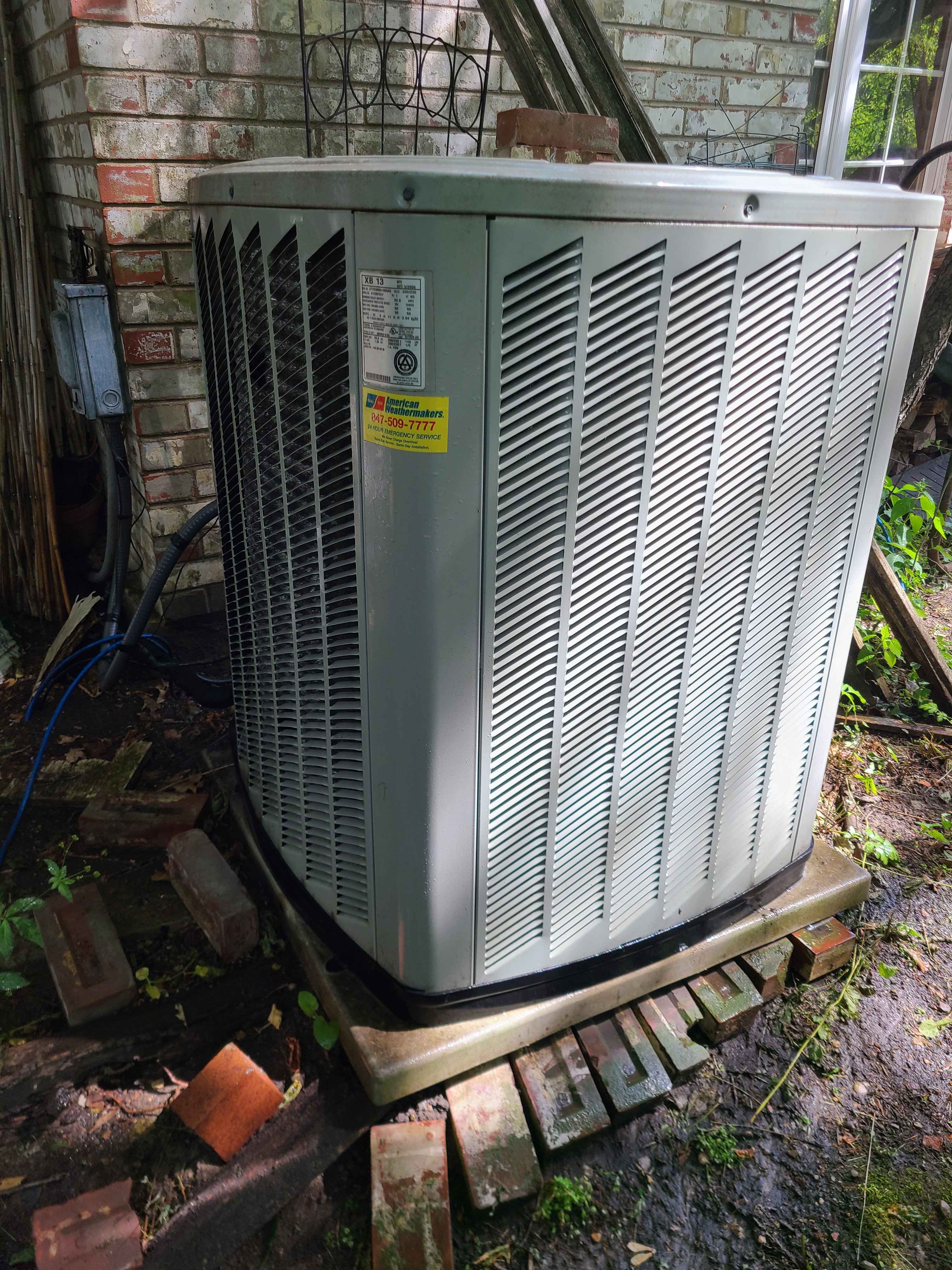 Trane r22 system...cleaned, repairs made,  ready for spring/ summer operation