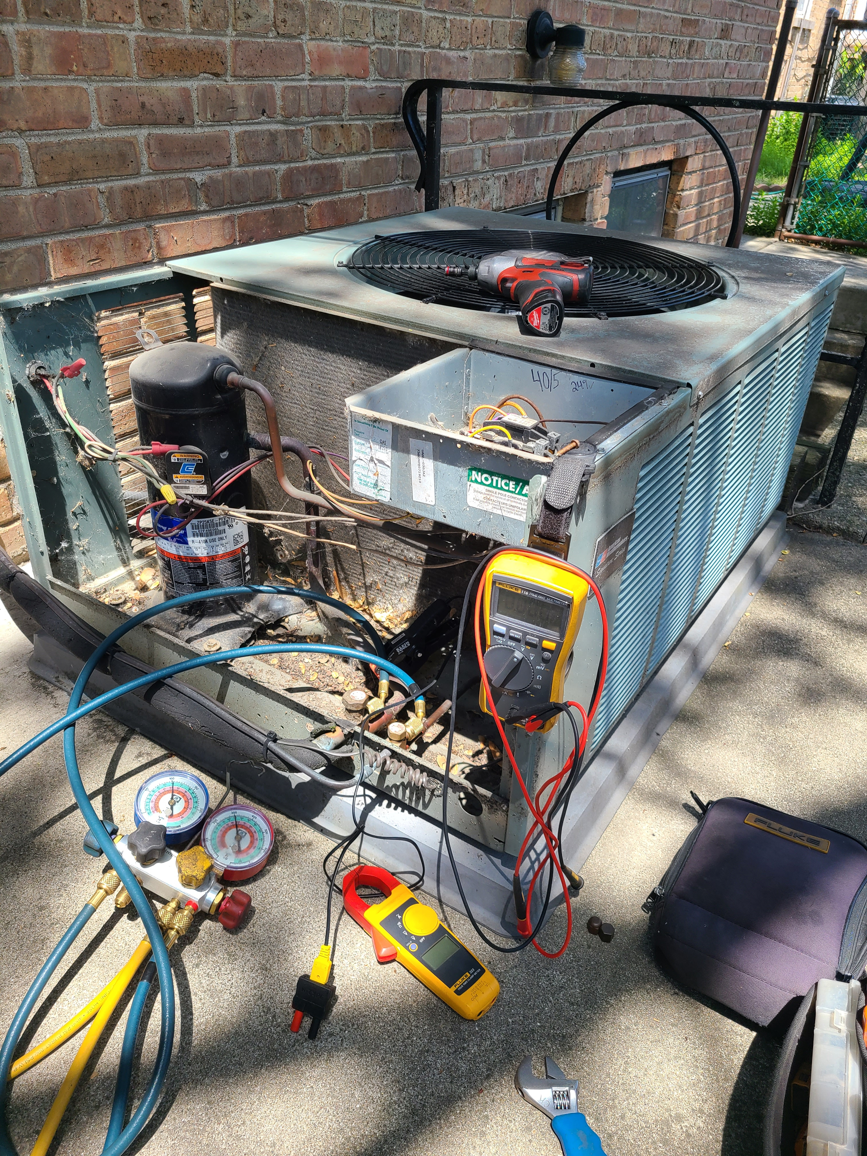 Ruud summer ac tune up. System cleaned and checked and ready for summer.