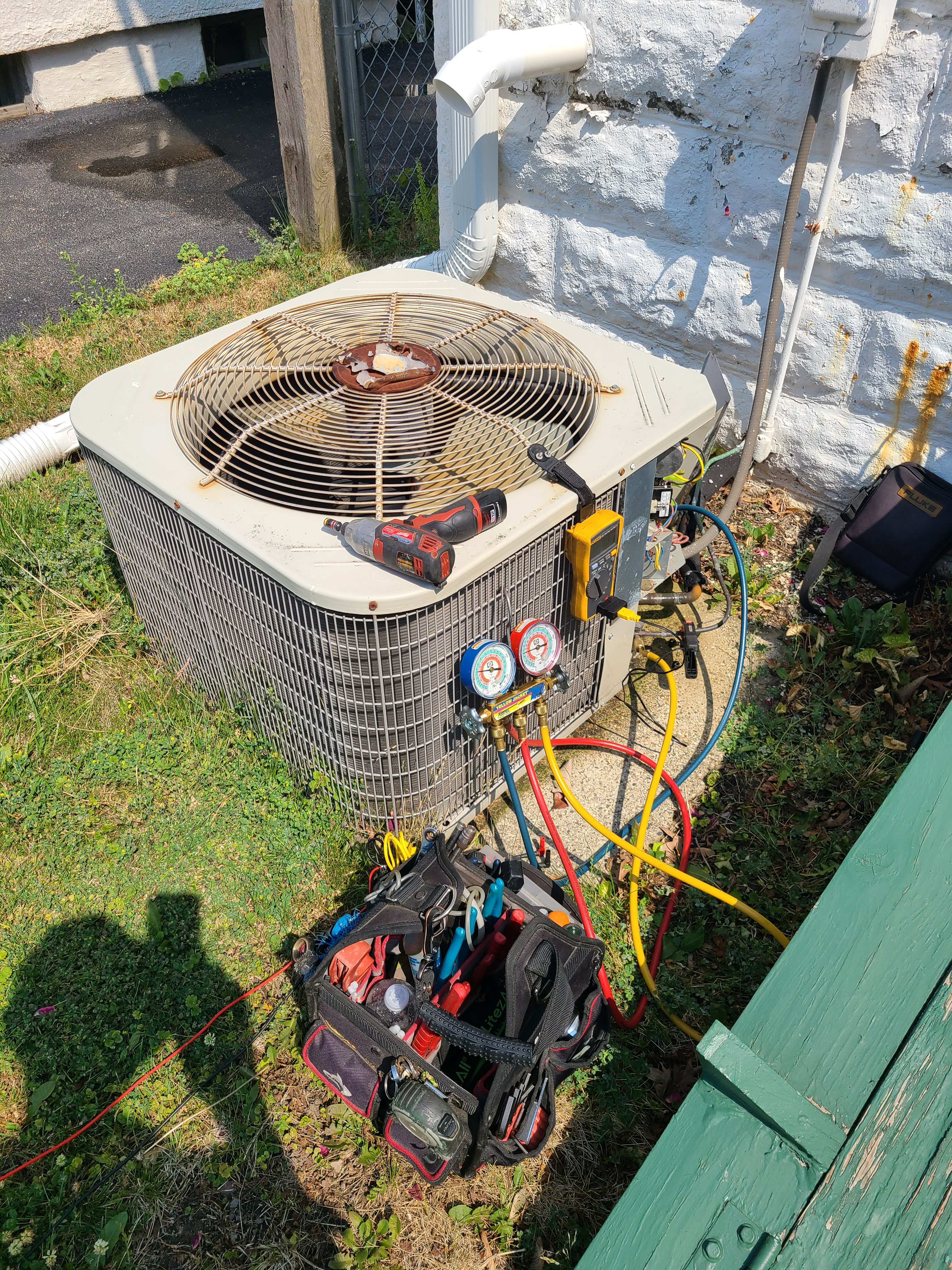 Payne summer ac tune up. System cleaned and checked and ready for summer. New thermostat installed.