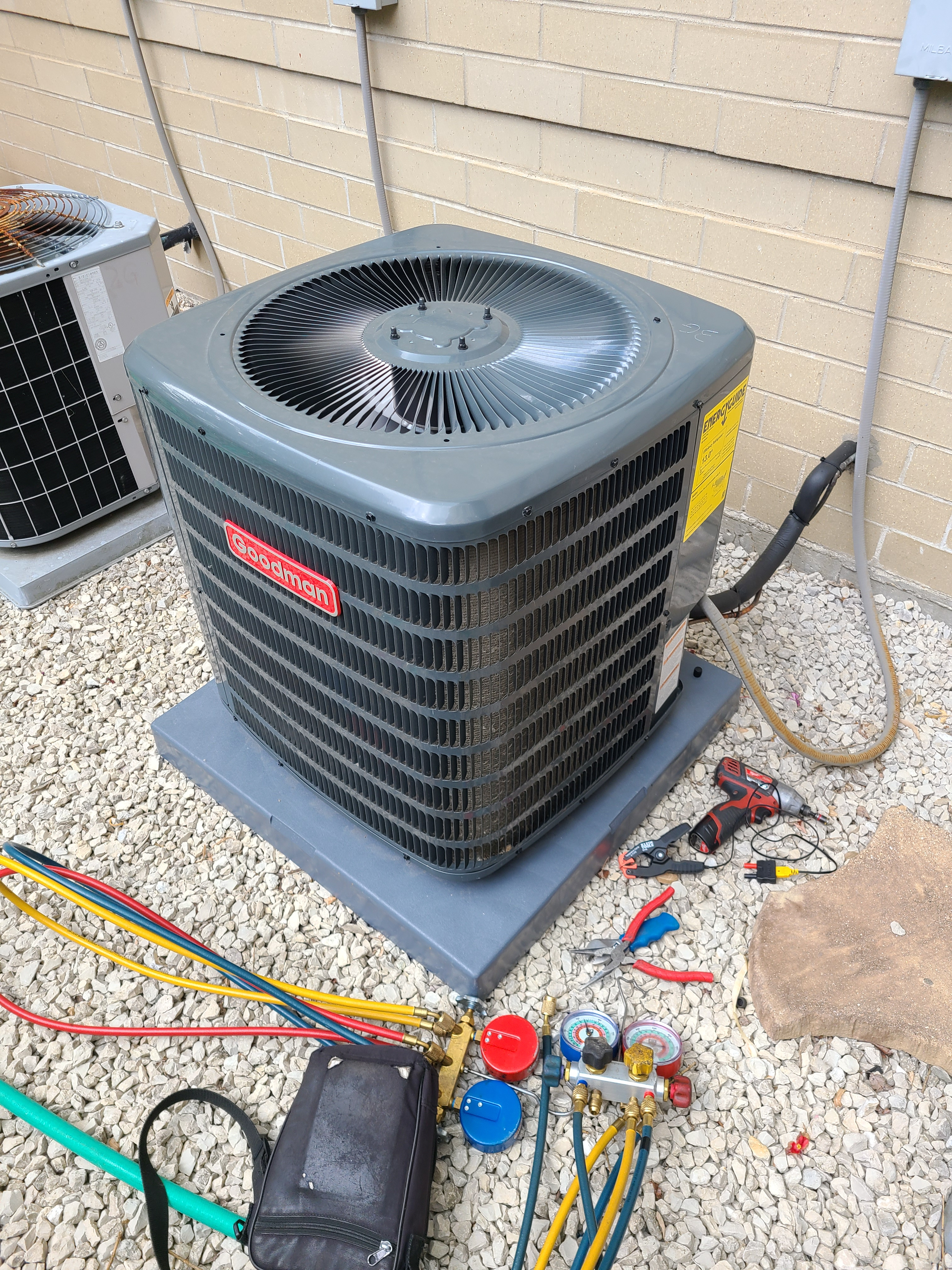 Goodman summer ac clean and check. System tuned up and ready for summer.