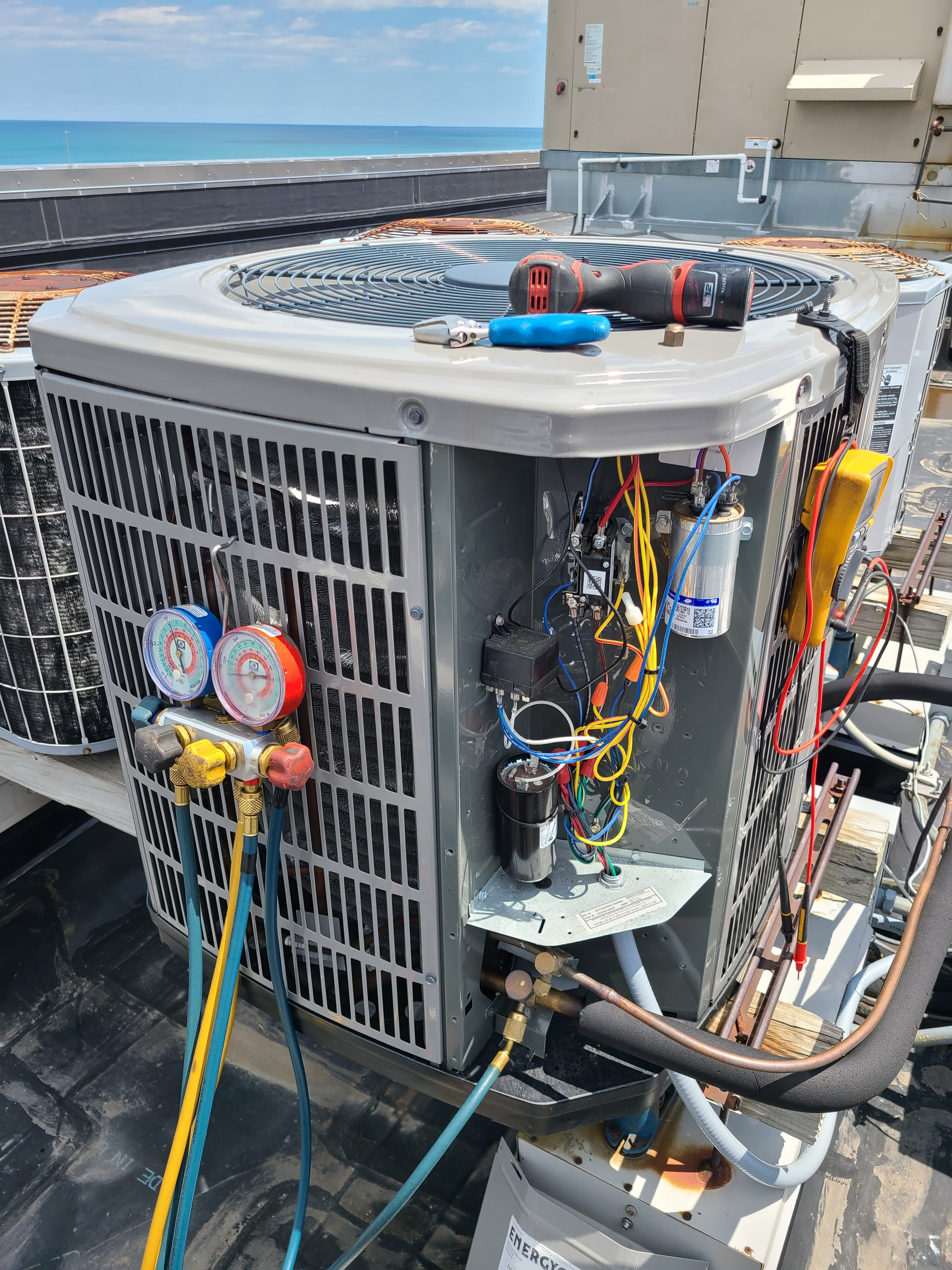 American Standard summer ac clean and check. System tuned up and ready for summer.