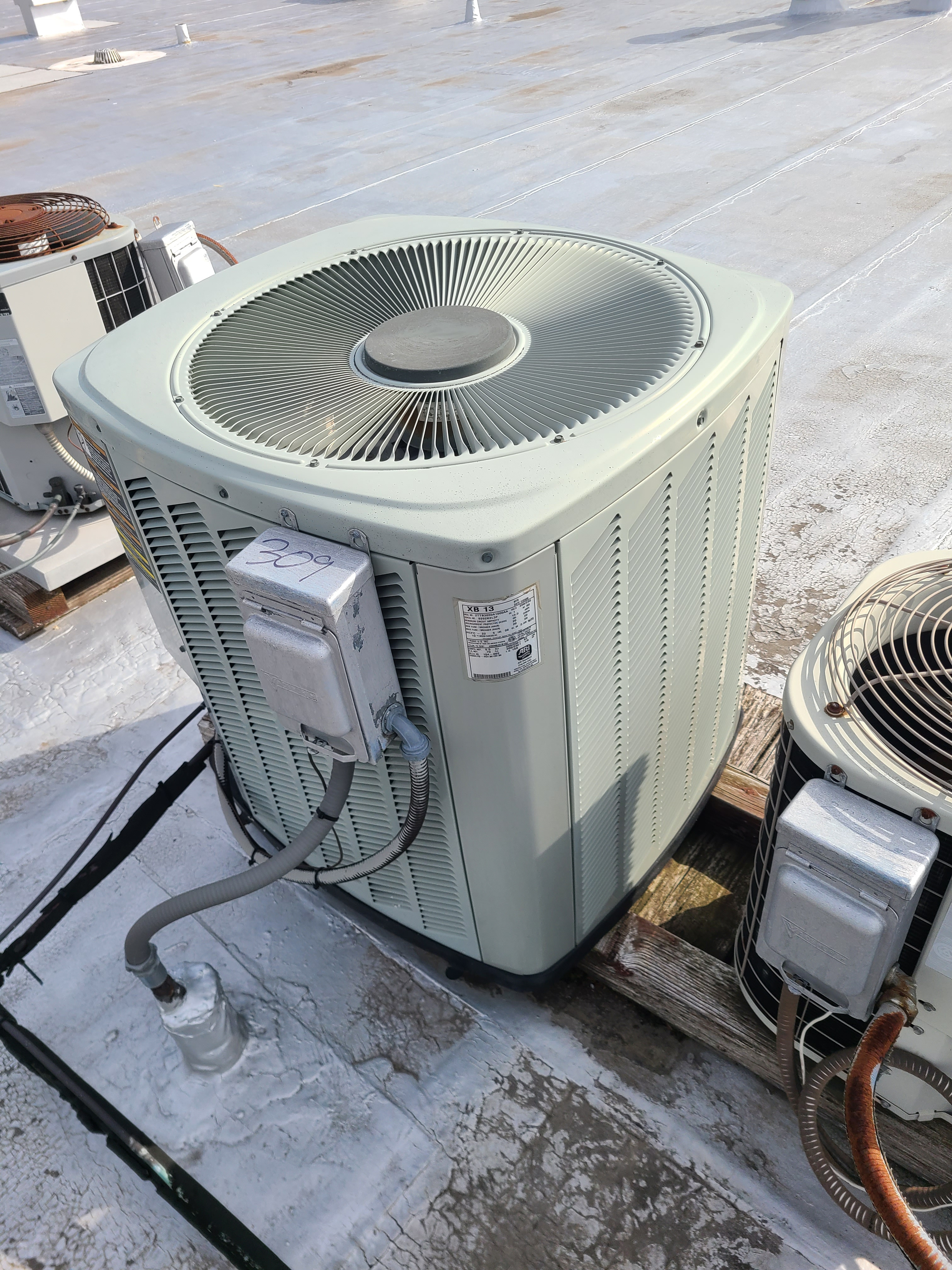 Trane r22 system cleaned and tested...ready for summer operation