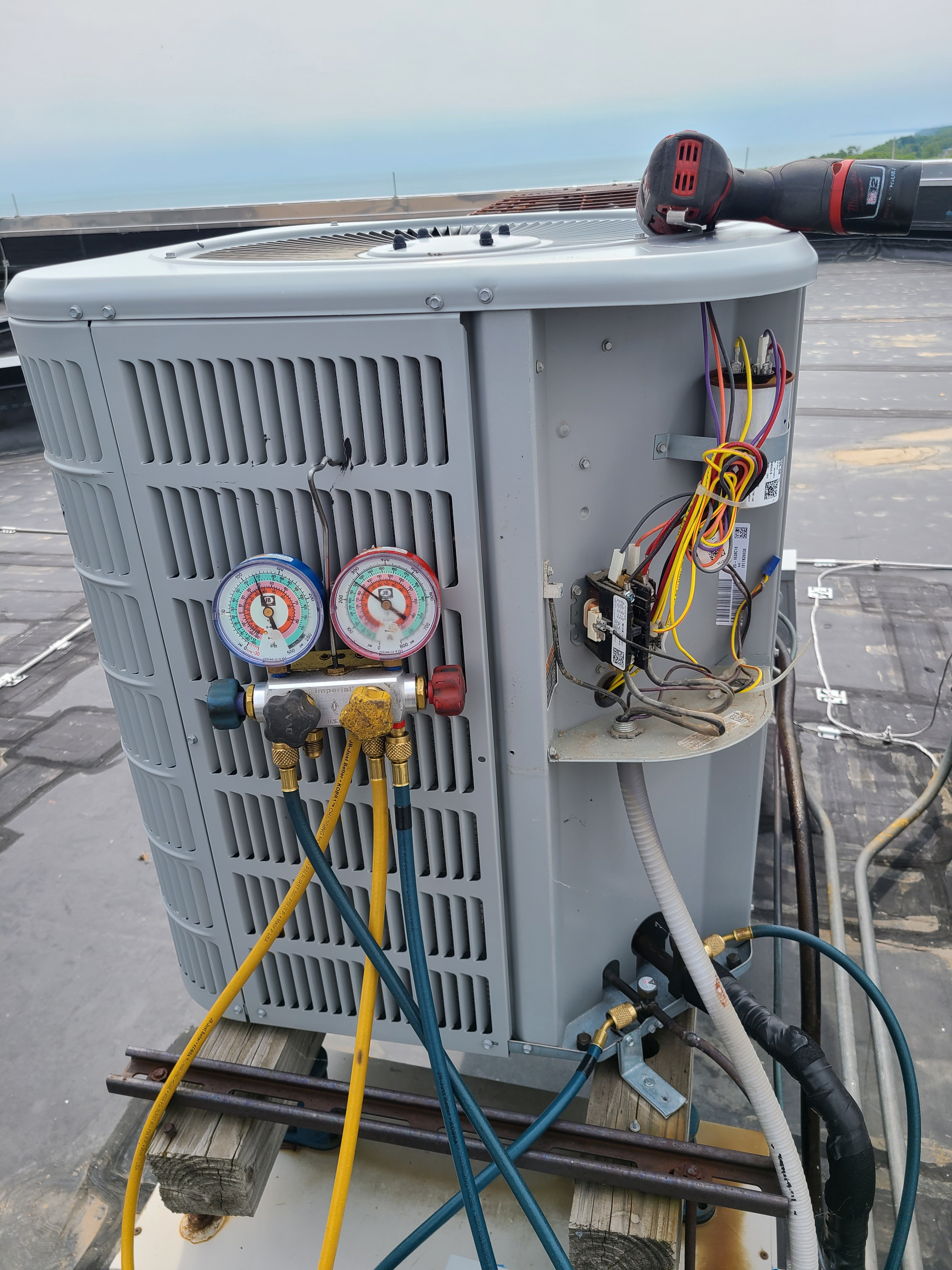 Ducane summer ac clean and check. System tuned up and ready for summer.