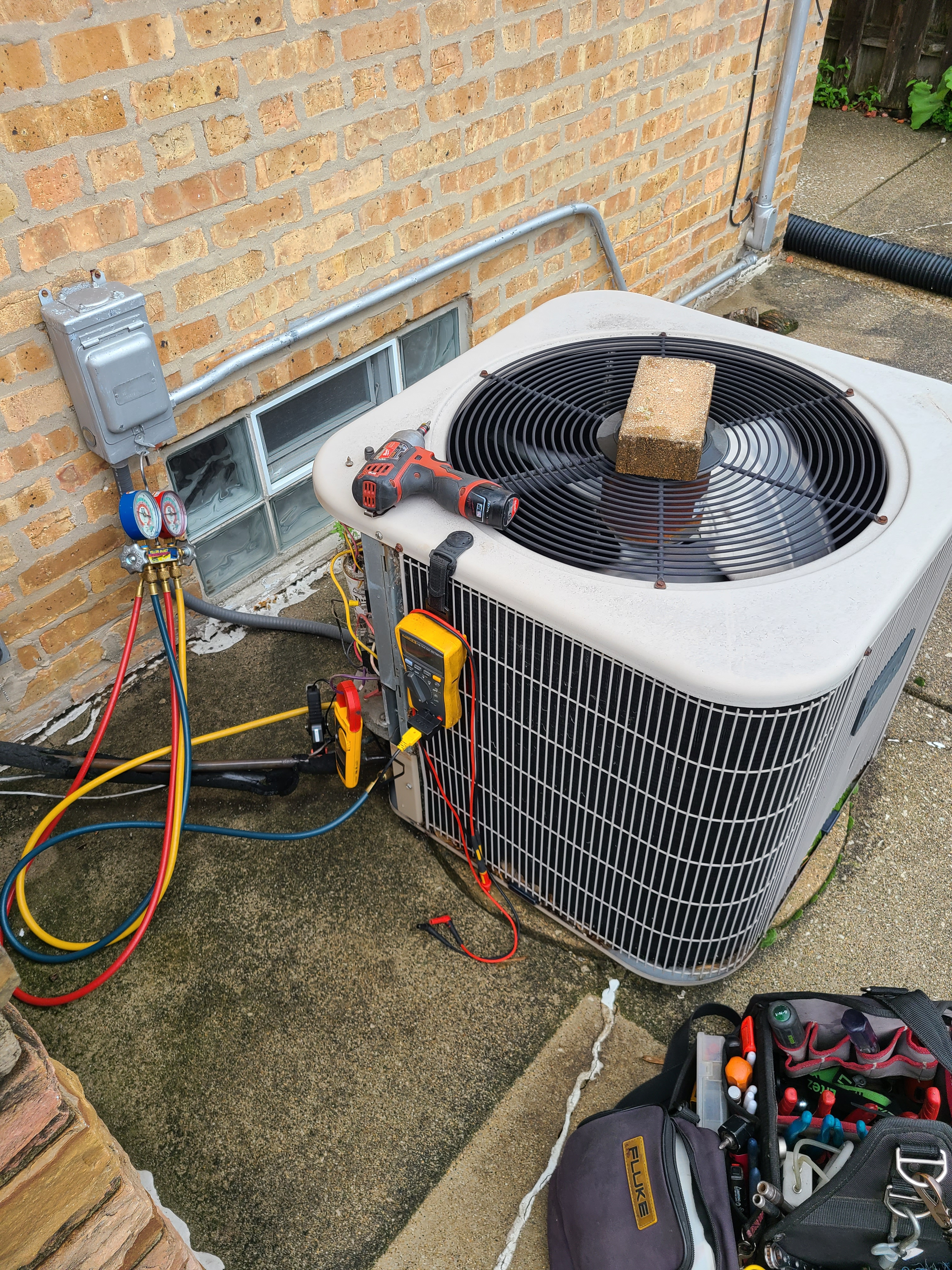 Amana  summer ac clean and check. System tuned up and ready for summer.