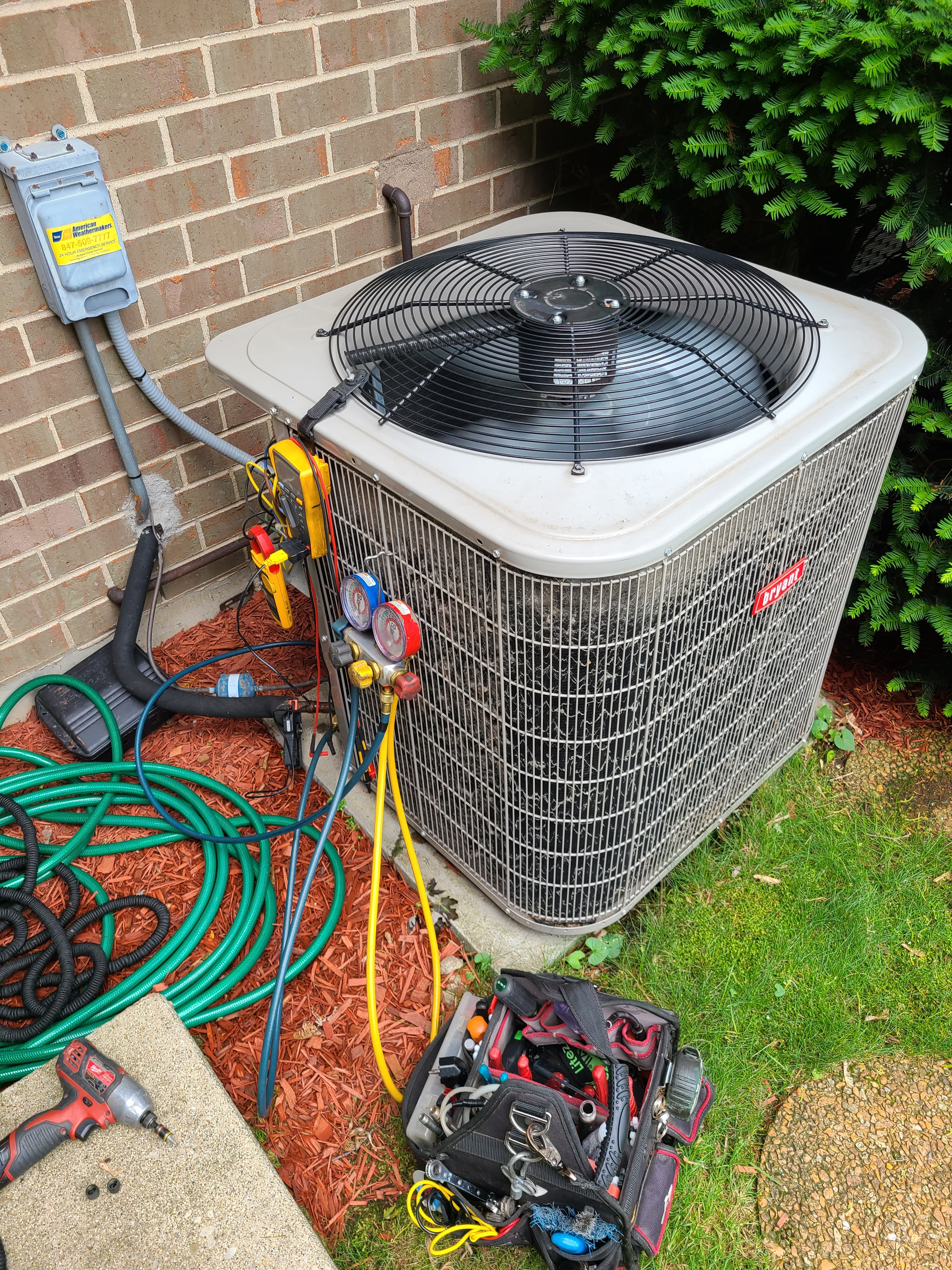 Bryant summer ac clean and check. System tuned up and ready for summer.