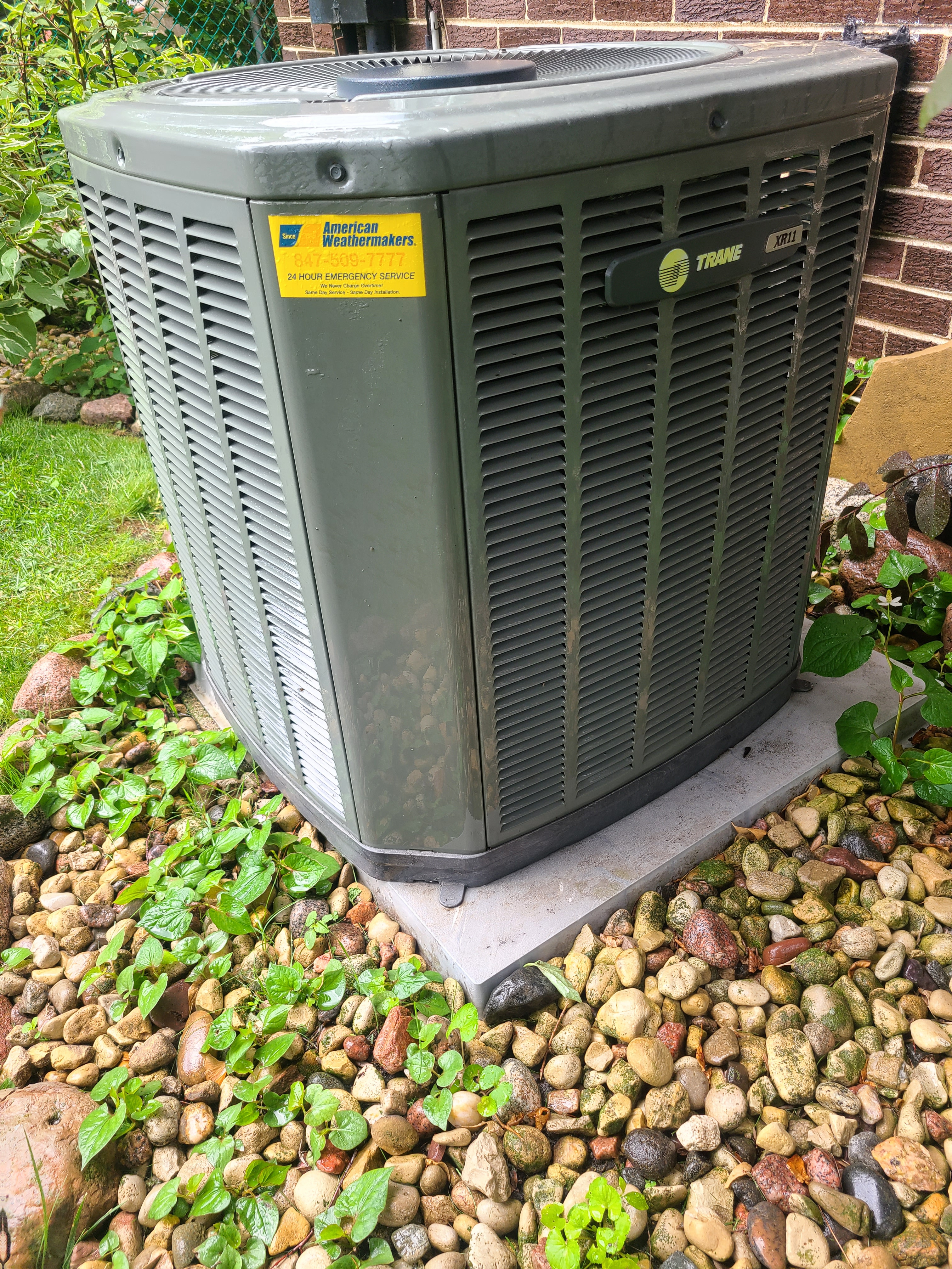 Trane air conditioner low on R22 refrigerant, filled.