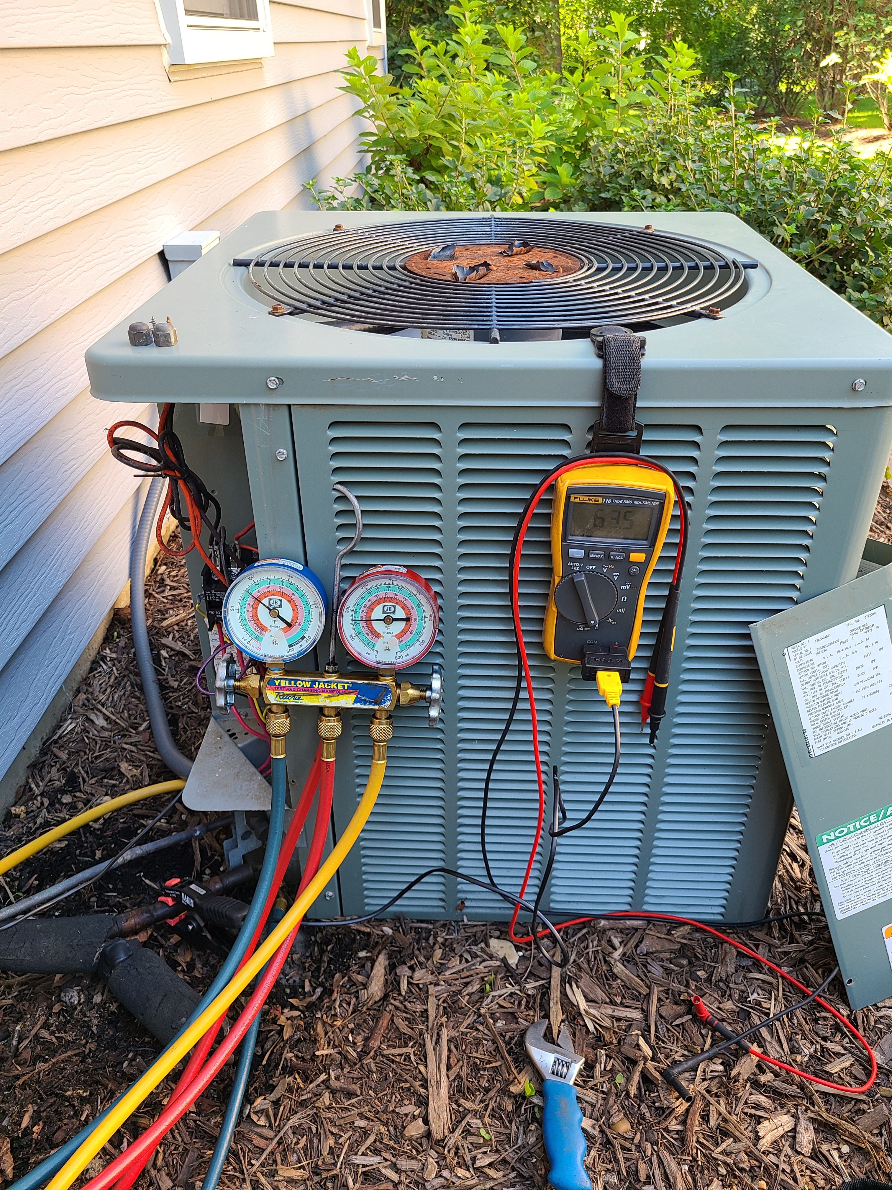 Rheem summer ac clean and check. System tuned up and ready for summer. Also made repairs to a faulty contactor.