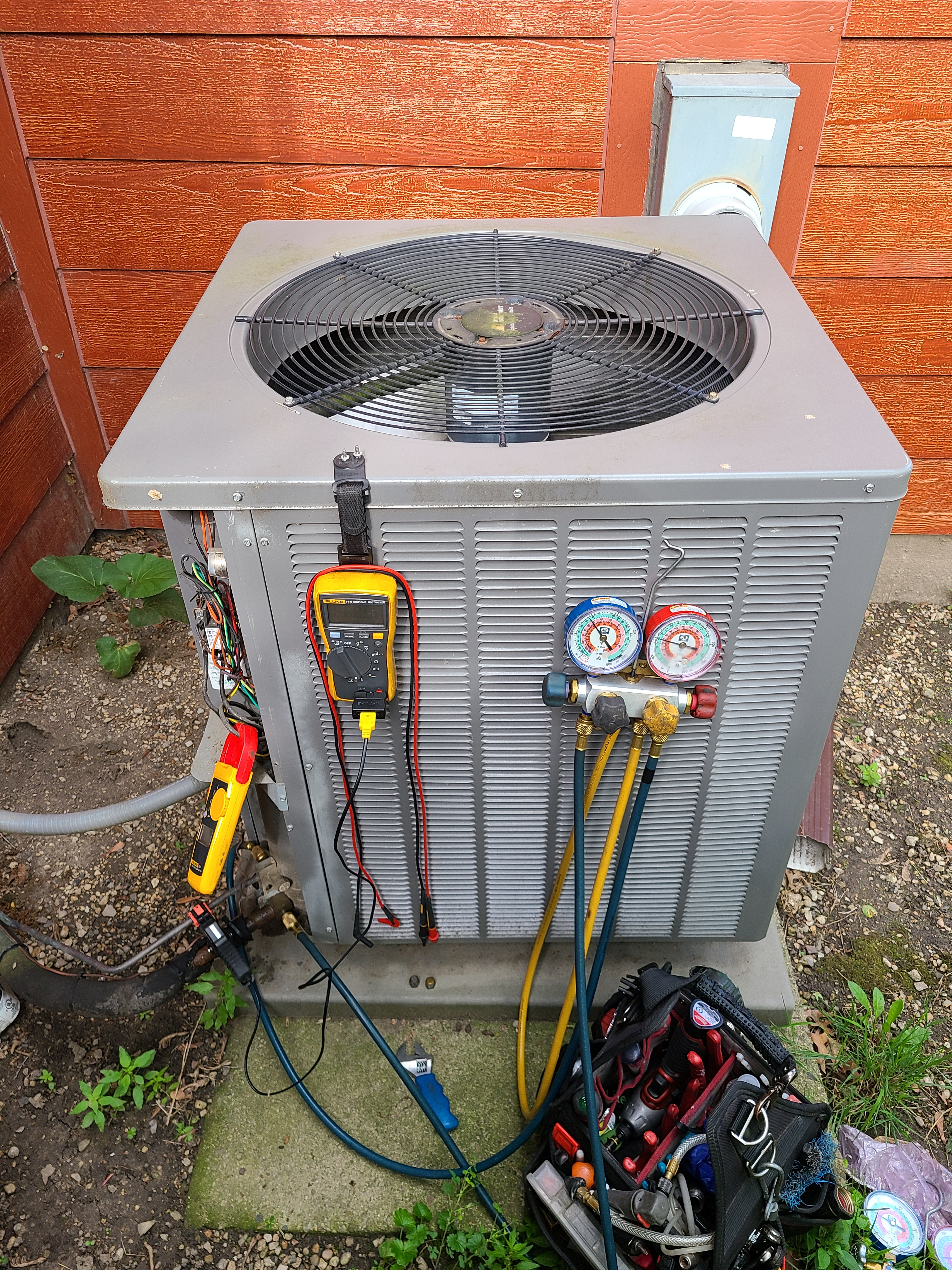Ruud ac maintenance and repair. System cleaned and checked and ready for summer.