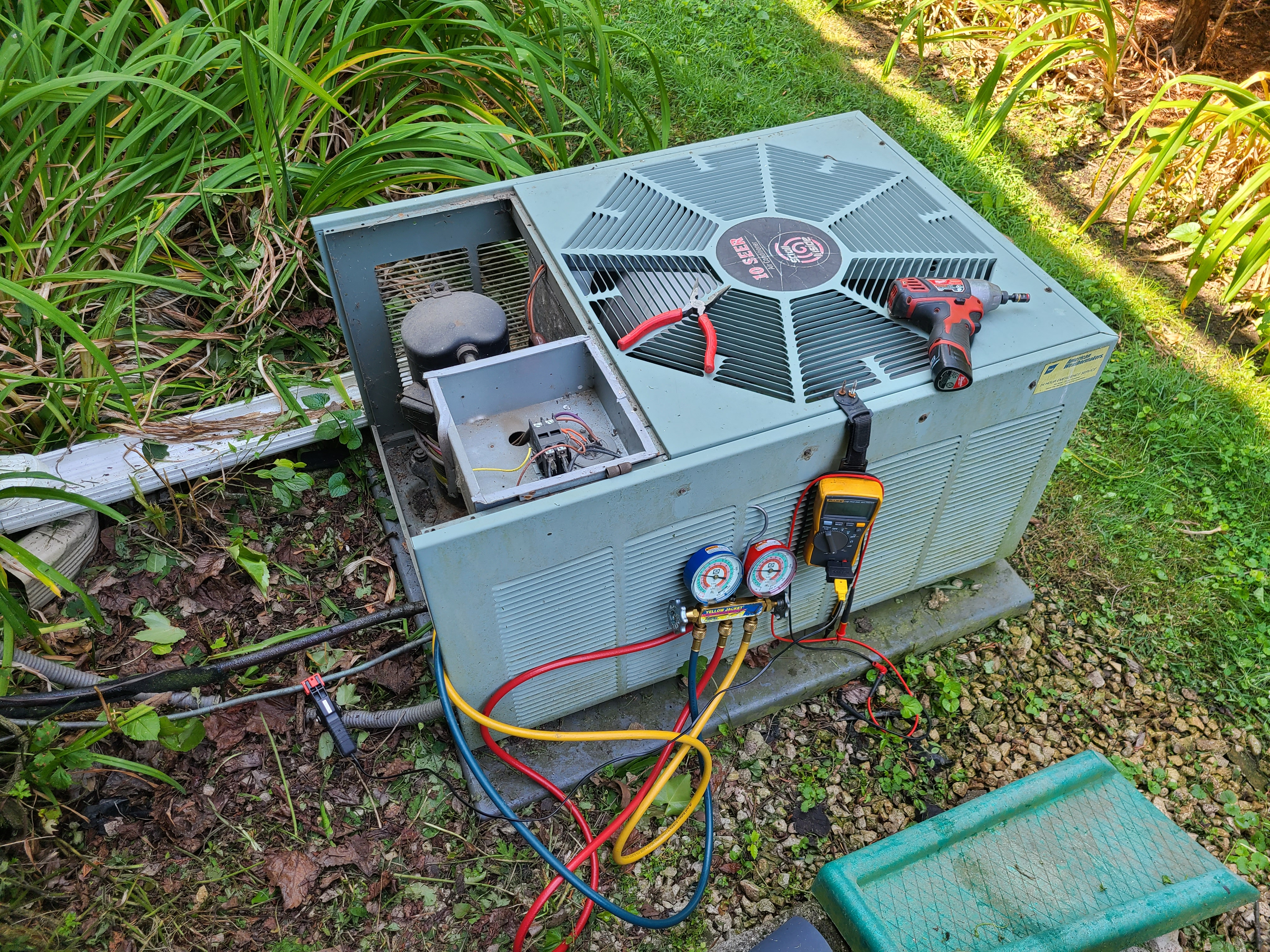 Rheem ac maintenance and repair. System cleaned and checked and ready for summer.