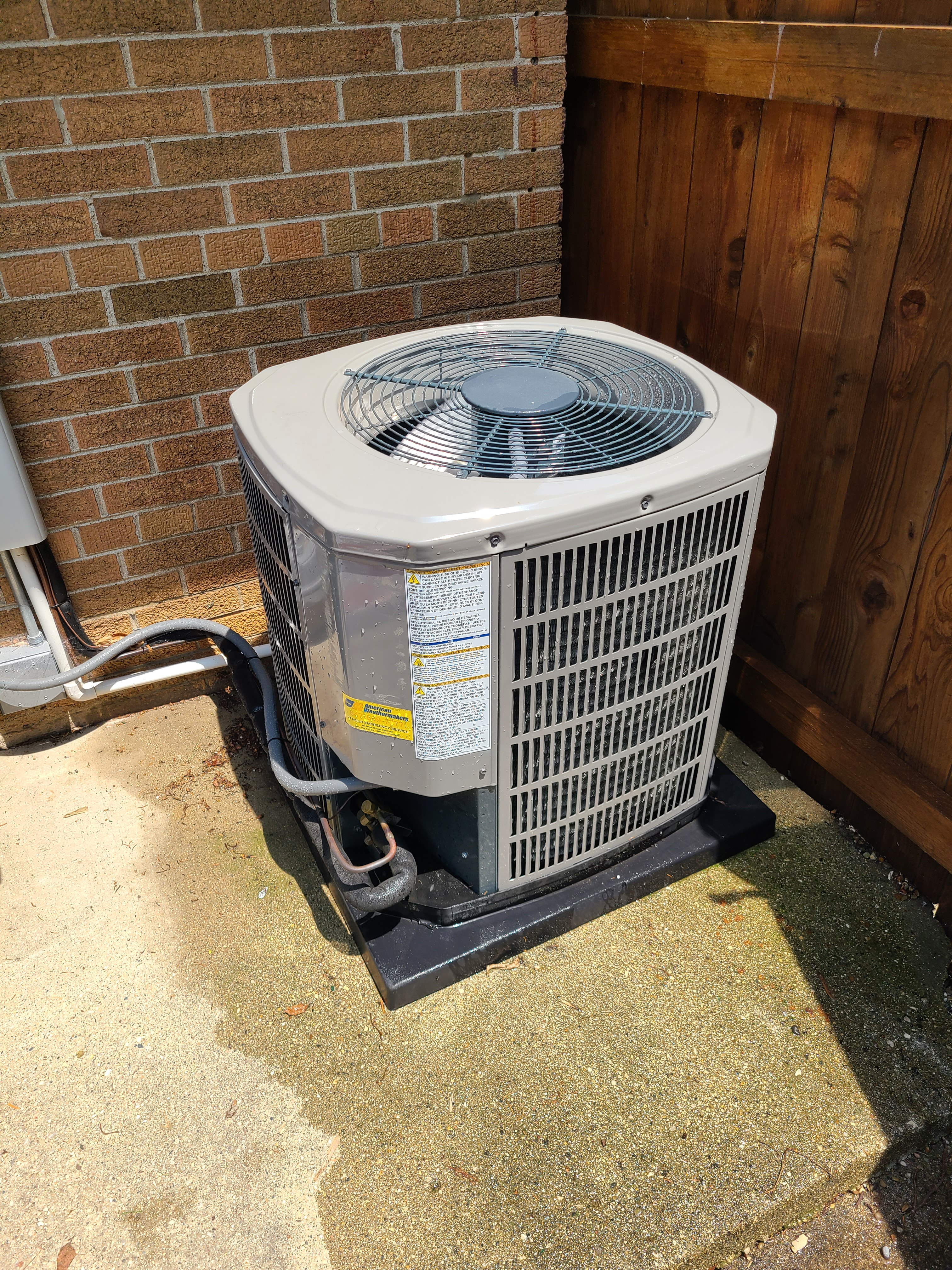 American Standard ac maintenance and repair. System cleaned and checked and ready for summer.