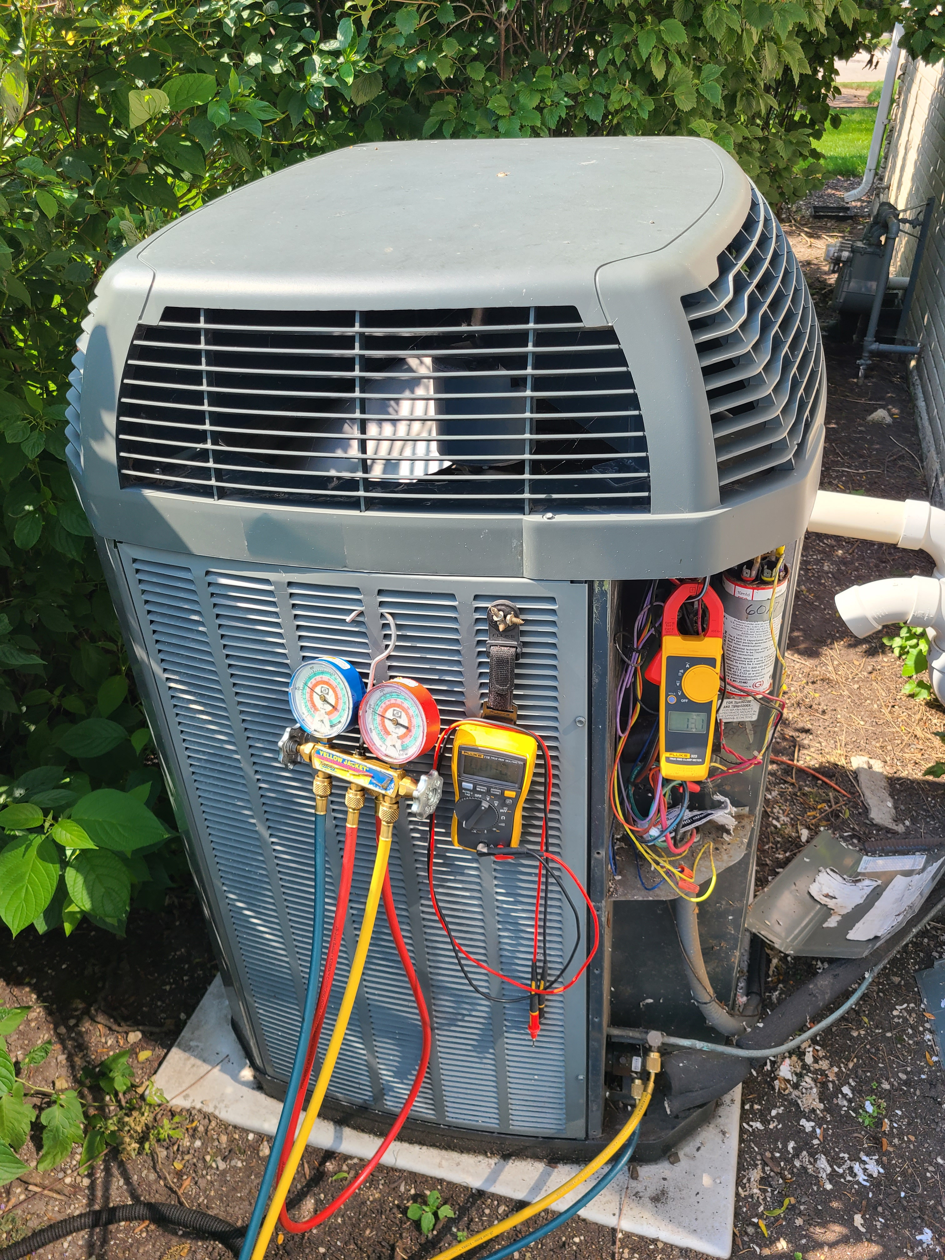 Trane ac maintenance and repair. System cleaned and checked and ready for summer.