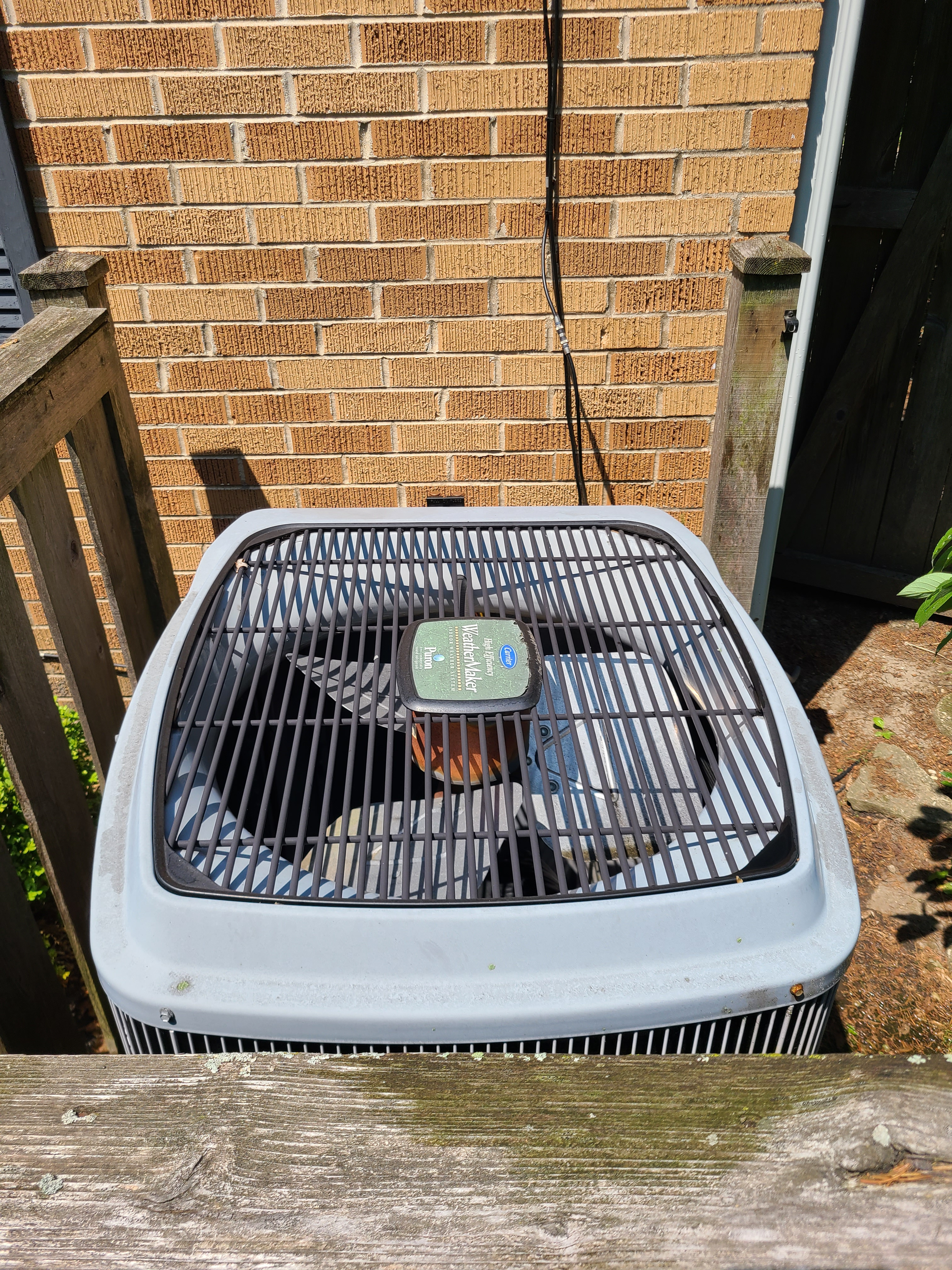 Carrier r410a system cleaned tested and ready for summer operation