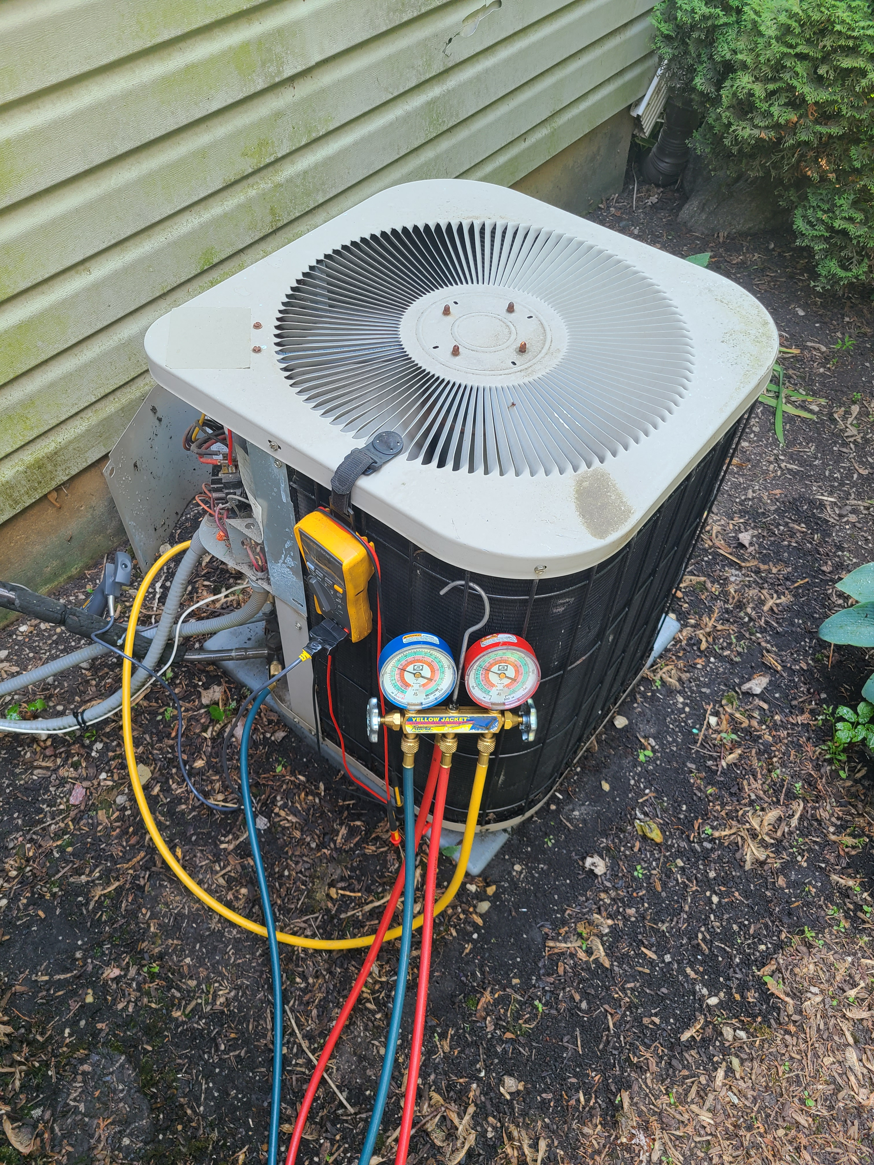 Janitrol ac maintenance and repair. System cleaned and checked and ready for summer.