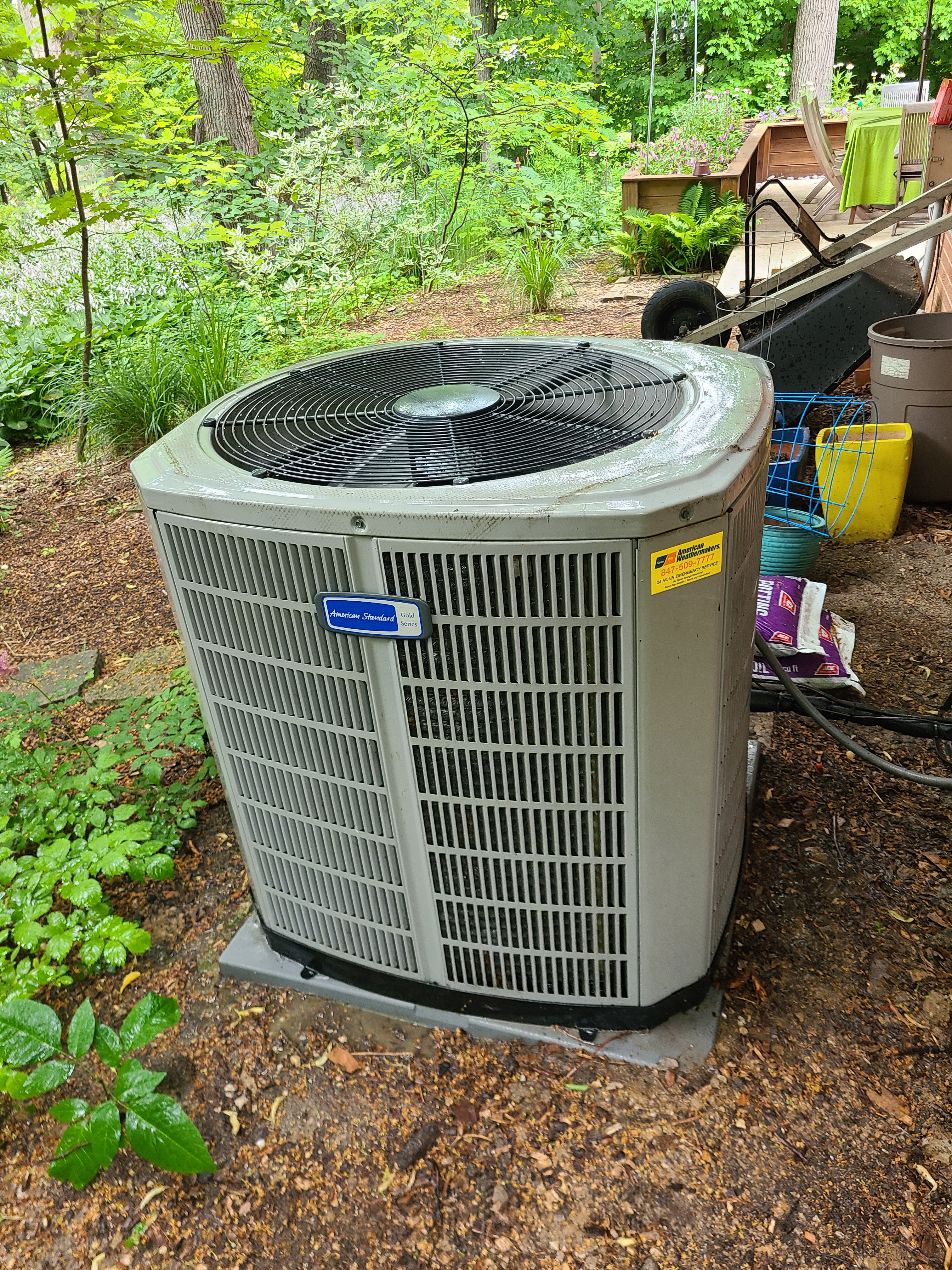 American Standard r410a system...extremely dirty...cleaned up and cooling restored