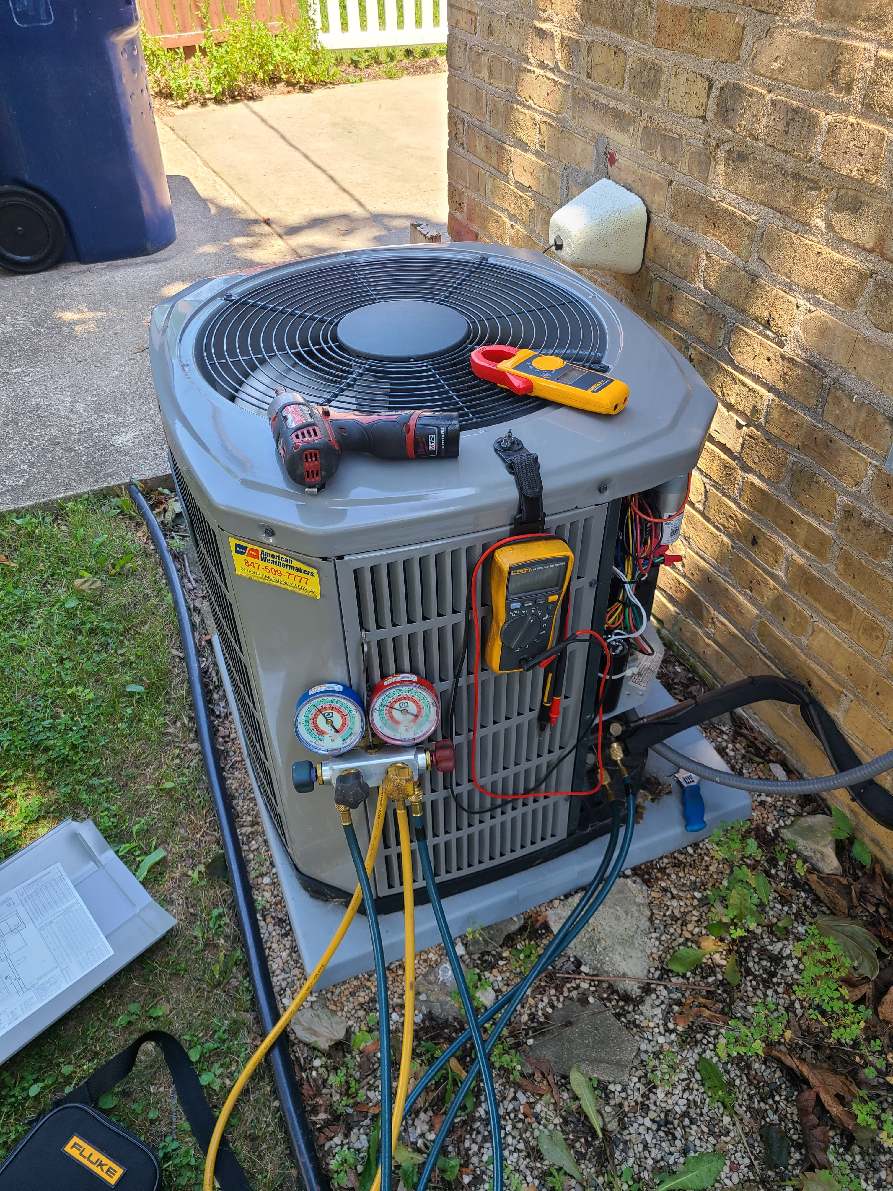 American Standard sumer maintenance. System cleaned and checked and ready for summer.