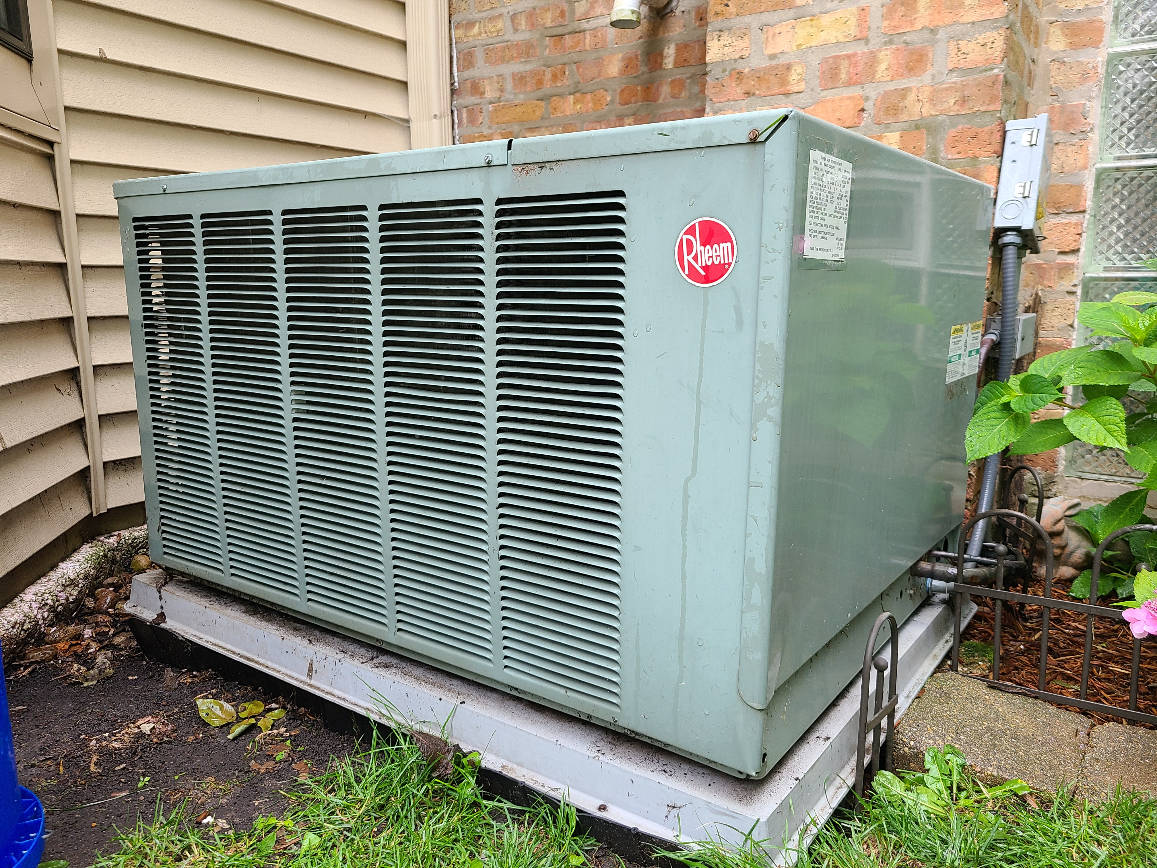 Photo of rheem condenser after CTS