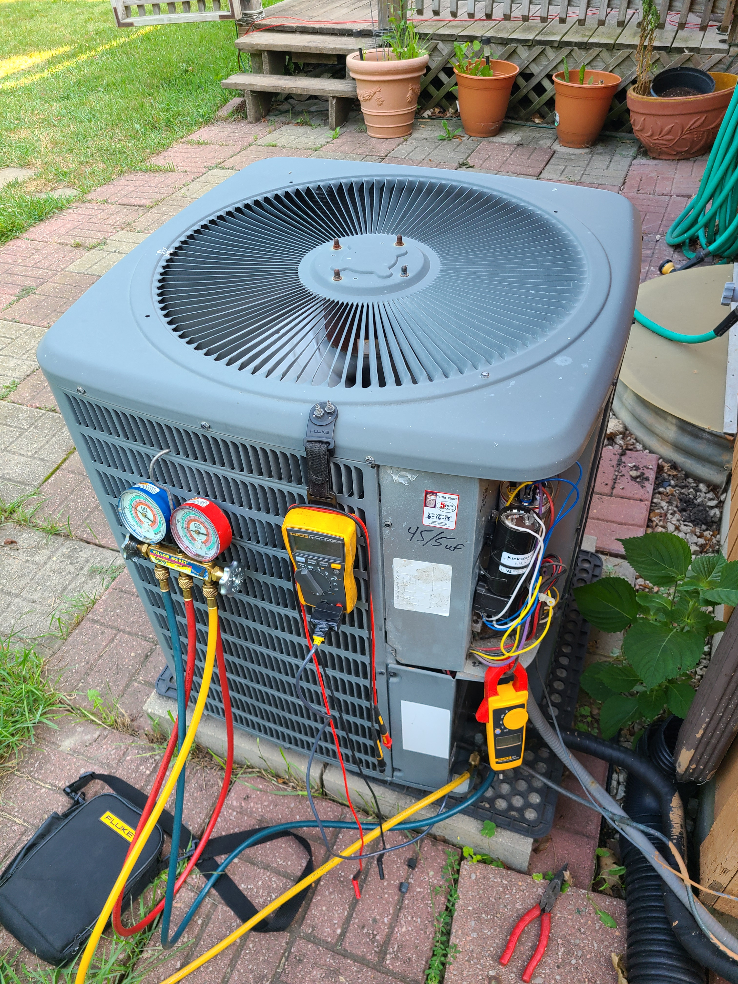 Goodman ac summer tune up. System cleaned and checked and ready for summer.