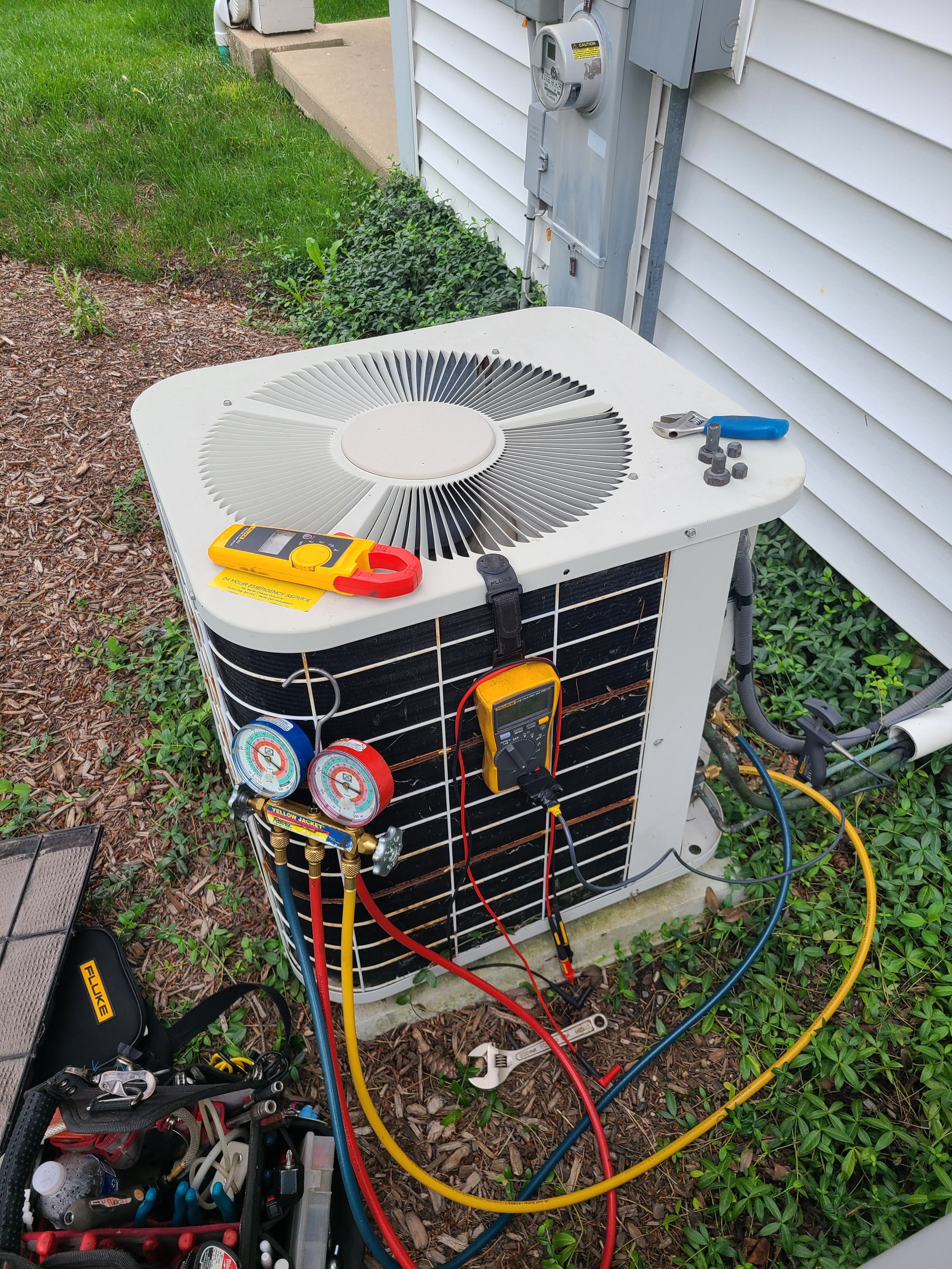 Bryant ac summer tune up. System cleaned and checked and ready for summer.