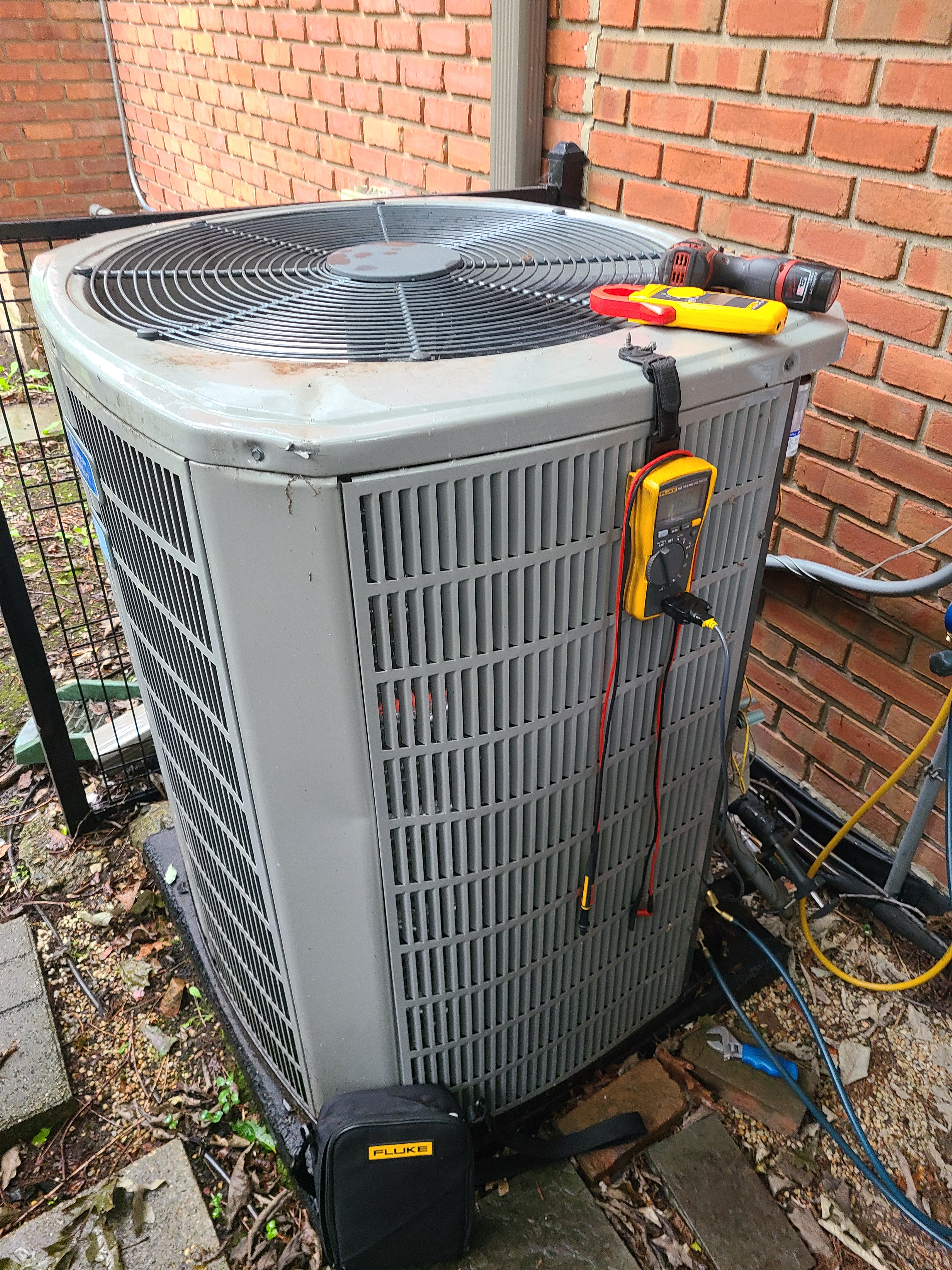 American Standard ac system summer maintenance.  System cleaned and checked and ready for summer.