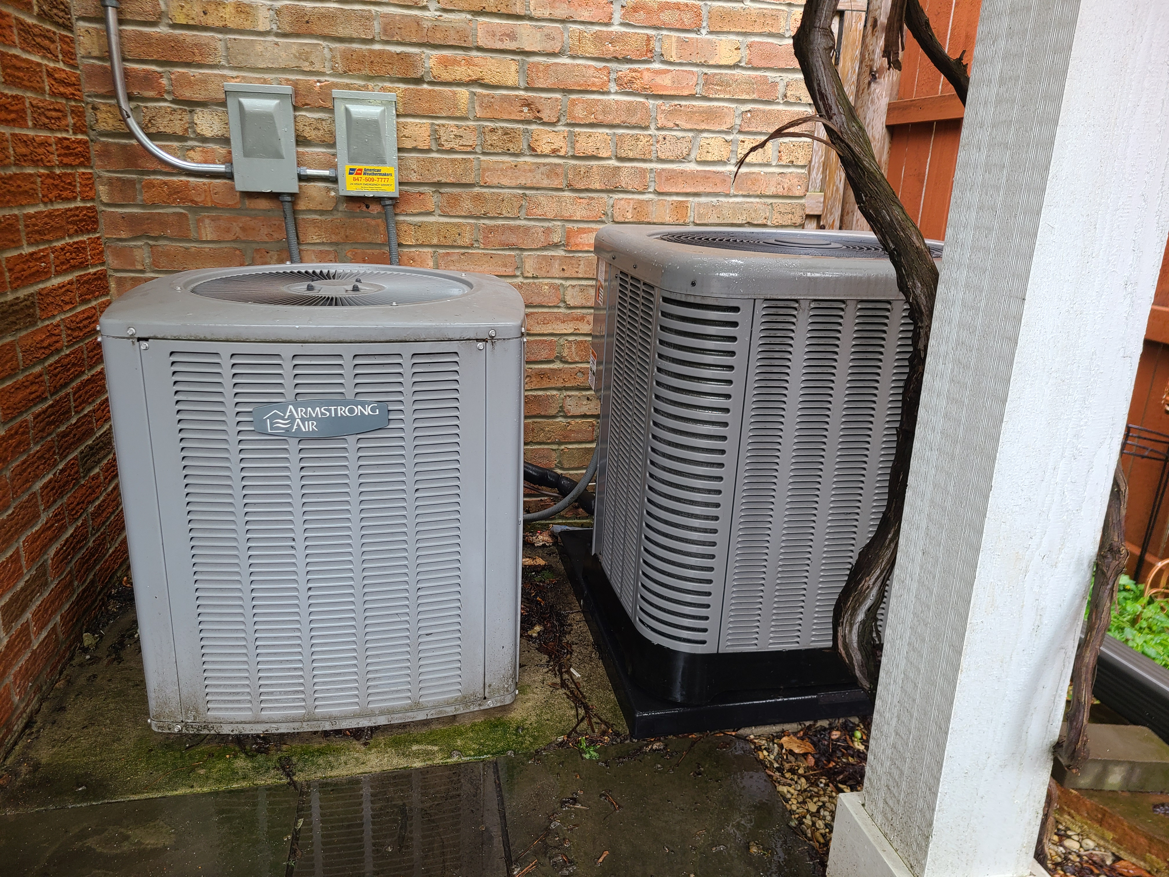 Armstrong r22 and RUUD r410a systems...cleaned tested gassed repairs made